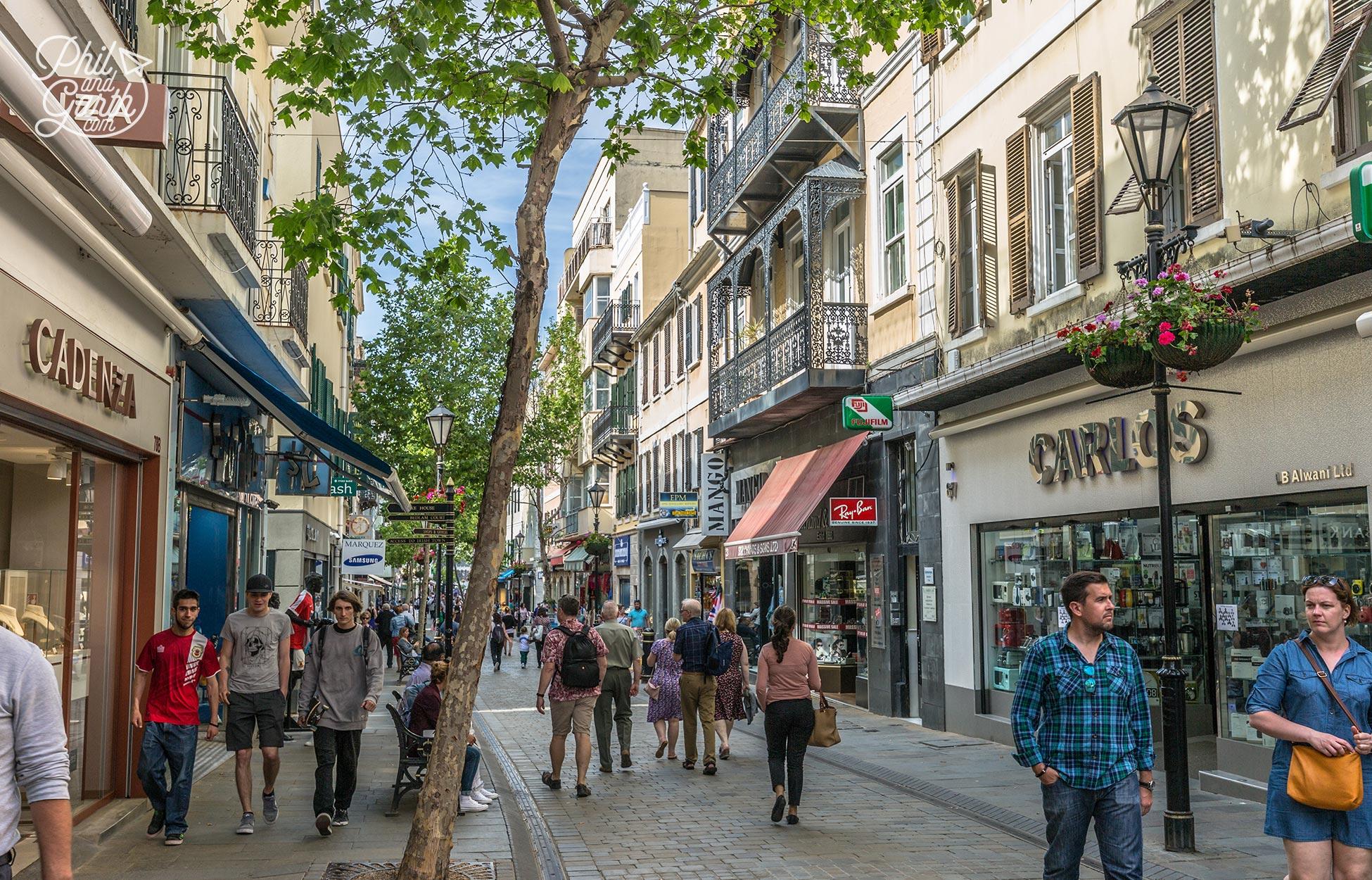 Tax free shops of Main Street