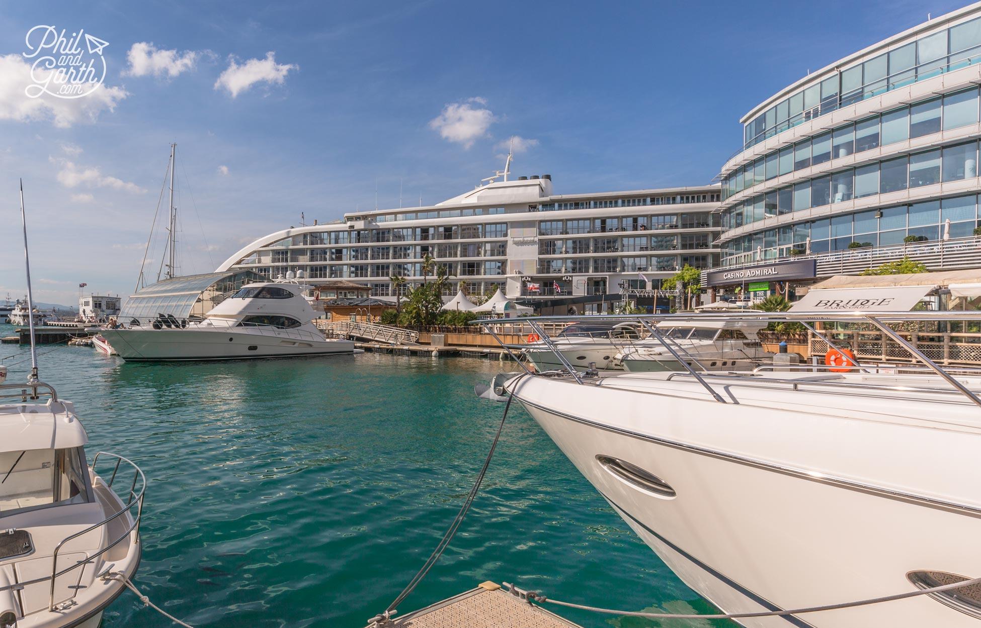 Gib's glamorous area at the Marina
