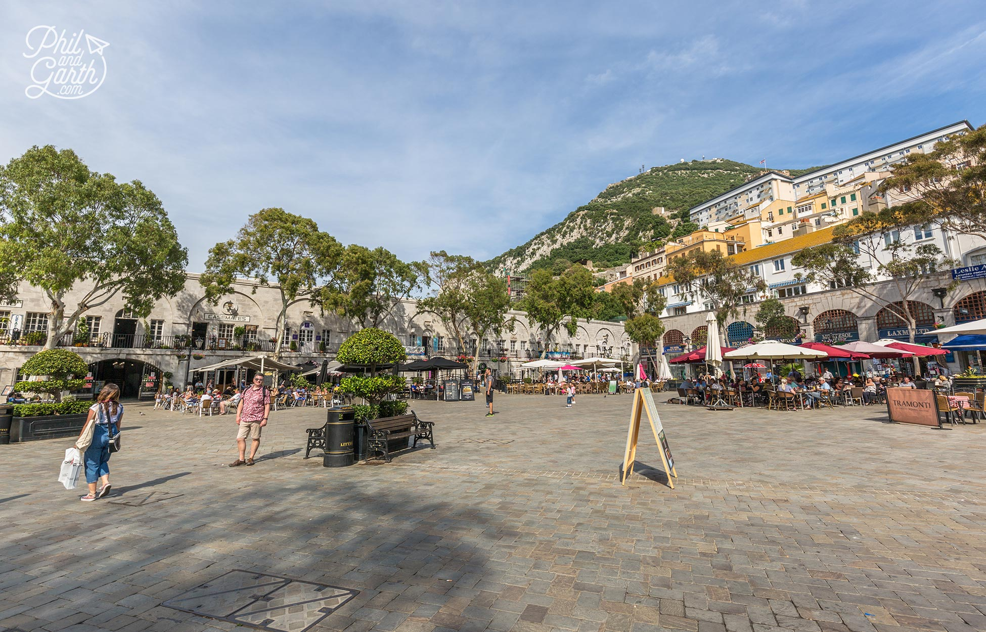 The cafe culture of Casemates Square