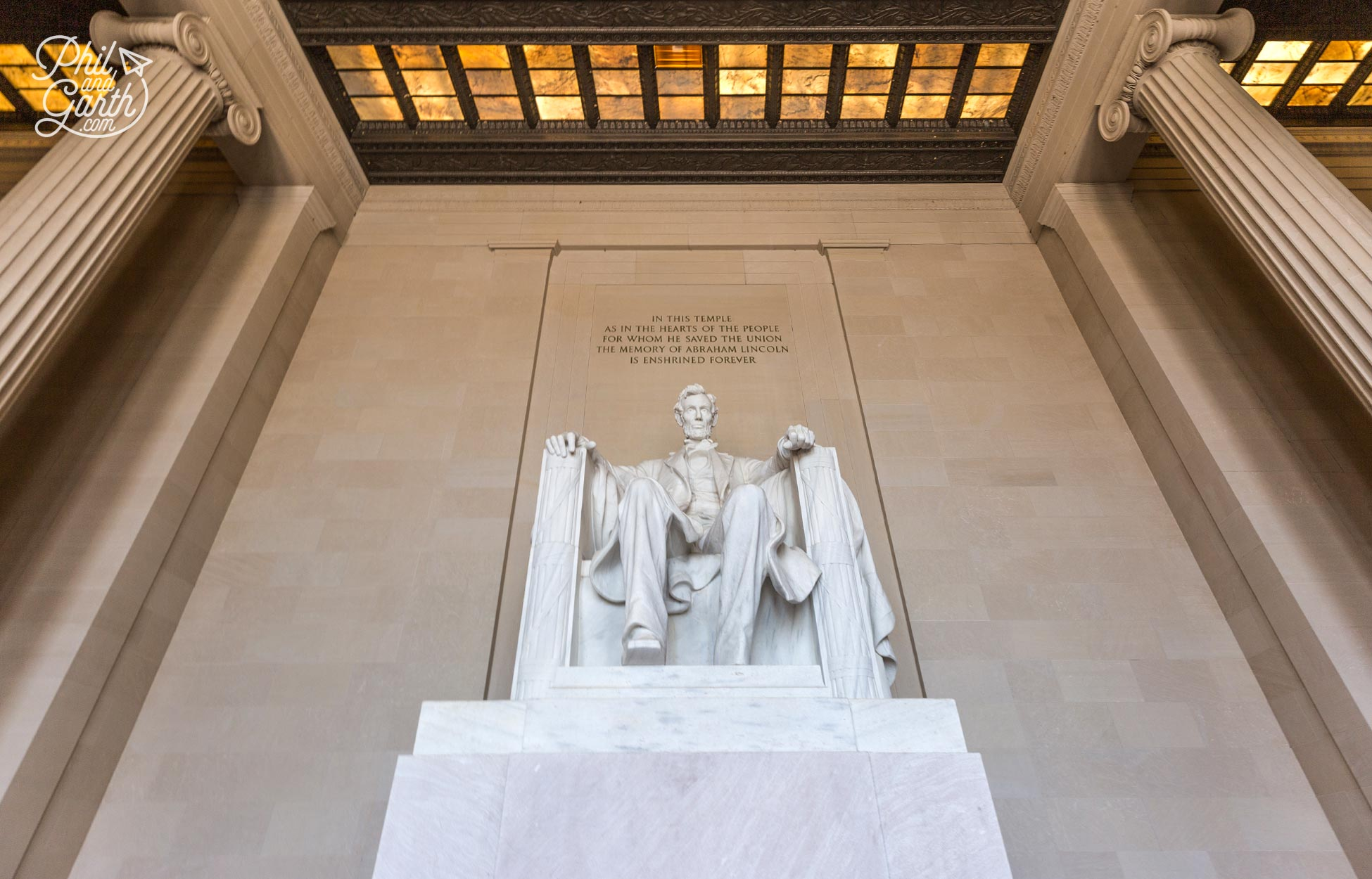 Abraham Lincoln 'Honest Abe' stands 5 metres tall
