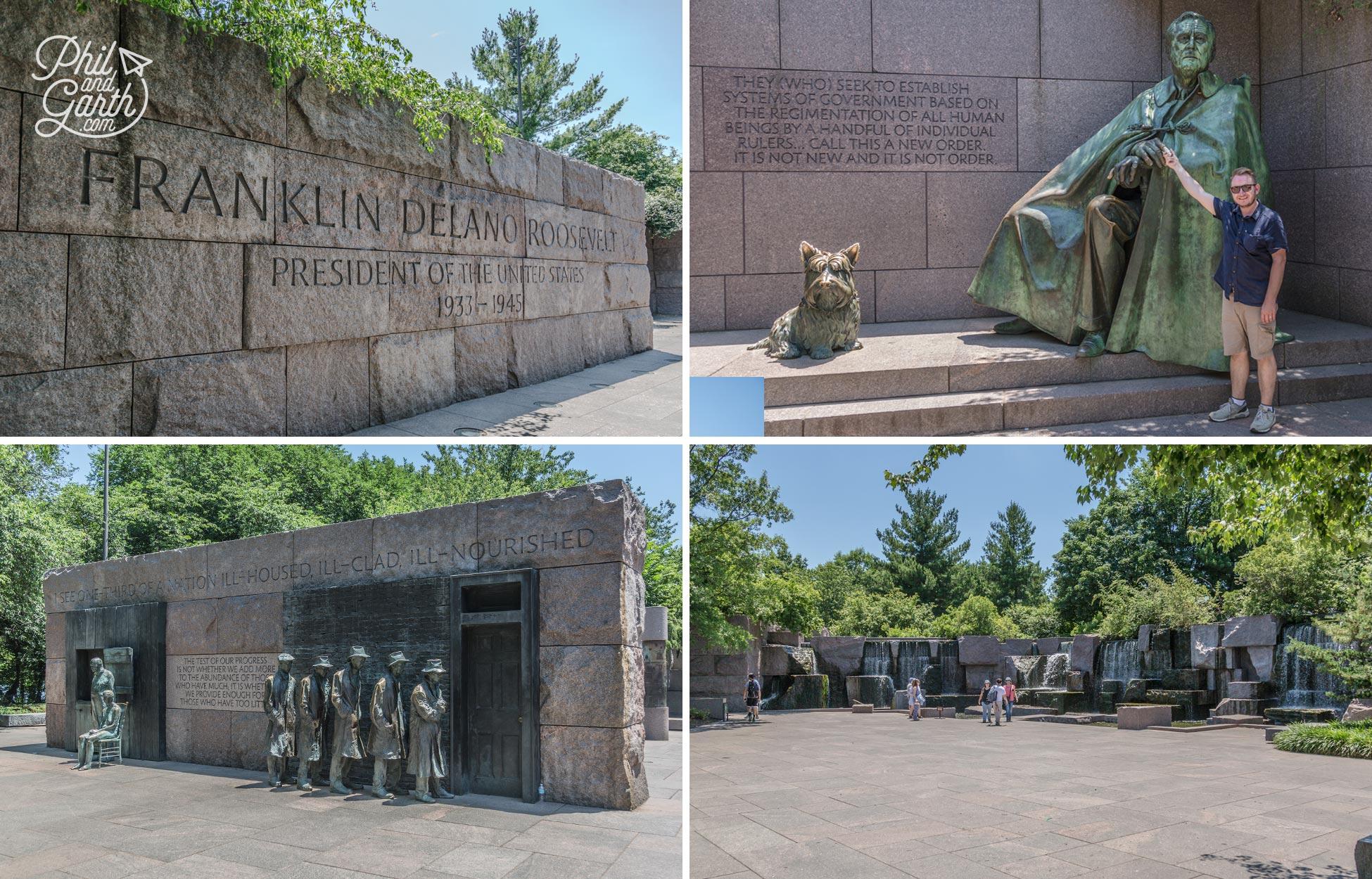 Garth at the Franklin D Roosevelt Memorial