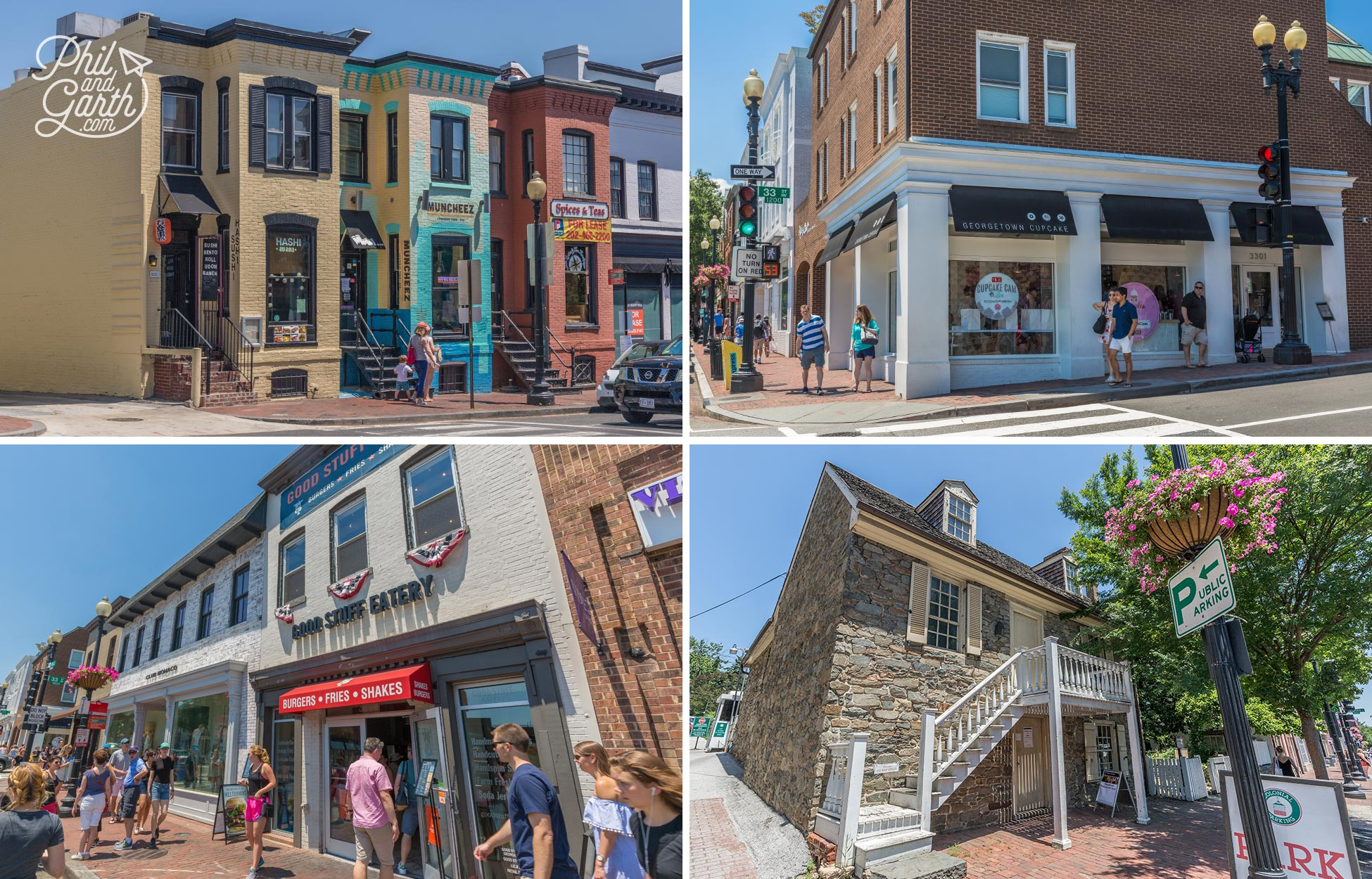 Look out for the The Old Stone House which is actually the oldest building in the whole of Washington DC (bottom right)