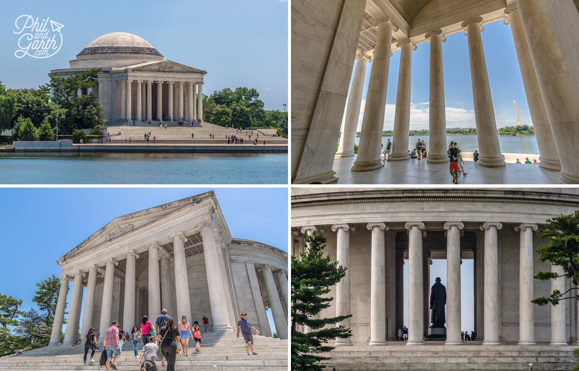 Honouring America's third president, Thomas Jefferson. This memorial is designed in the neoclassical style