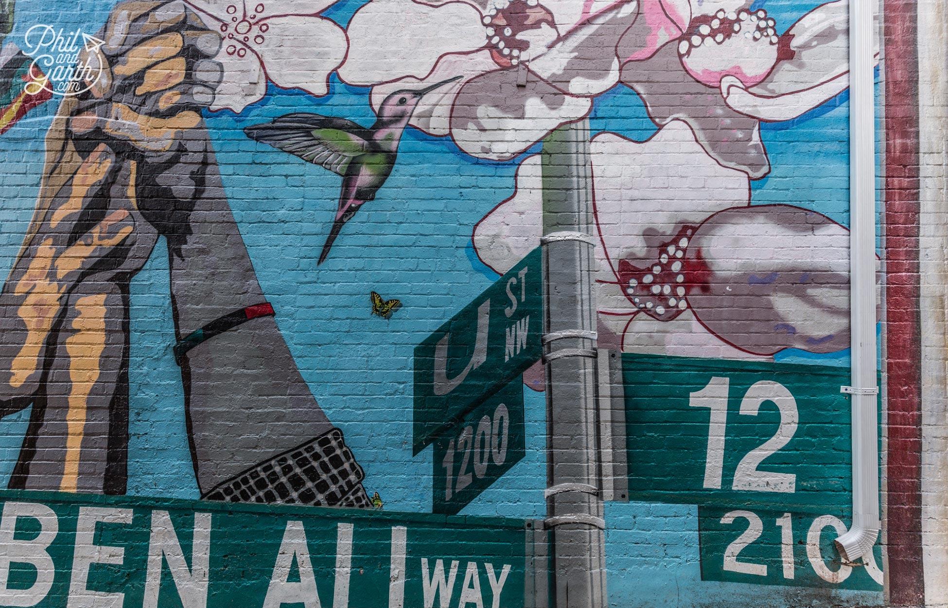 Street art next to Ben's Chili Bowl