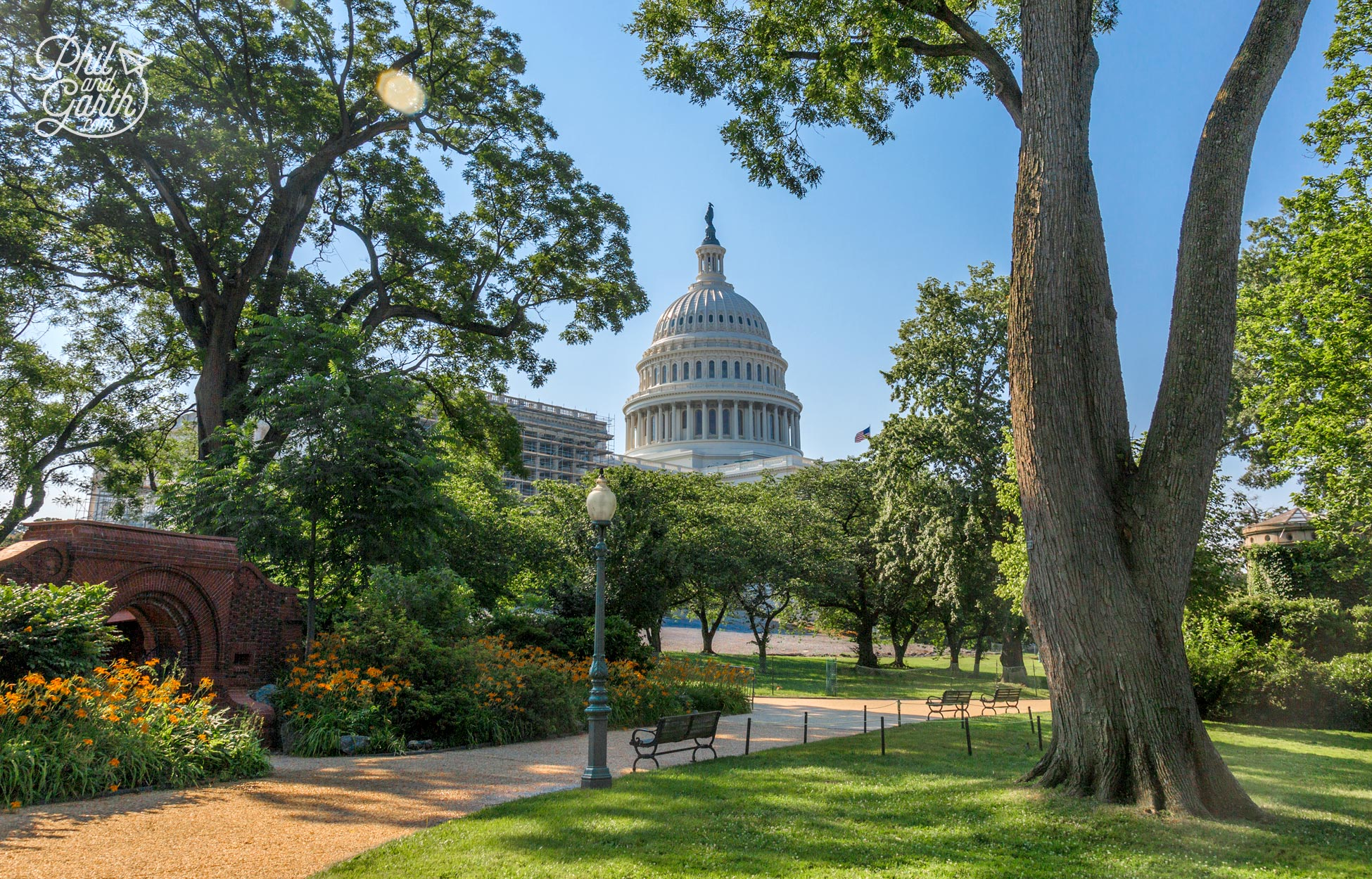 The grounds of the US Capitol are lovely too, there's guided tours of the grounds at 1pm Mon-Sat.