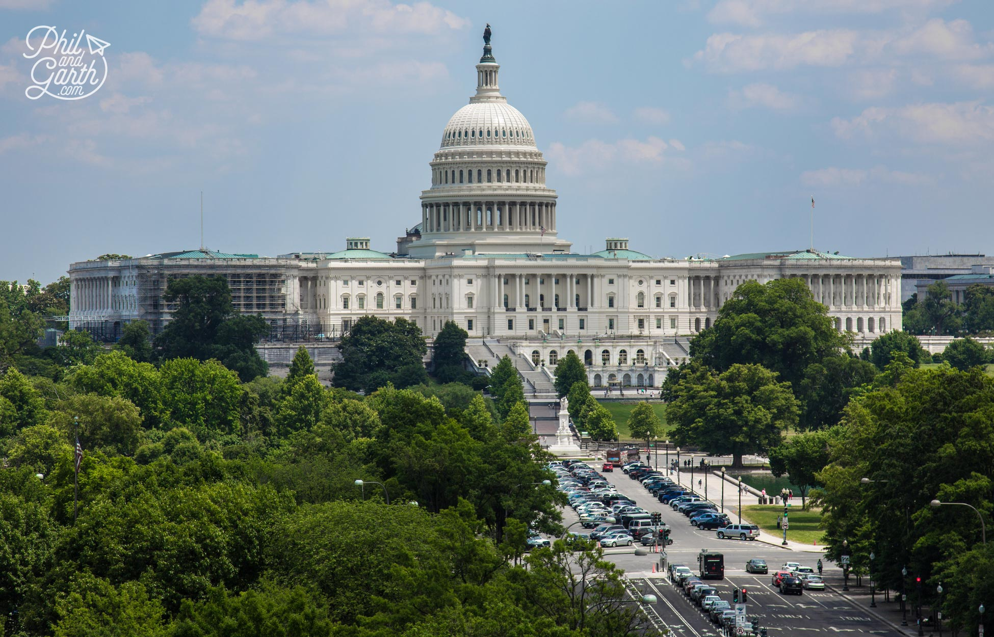 The best view of Pennsylvania Avenue and the US Capitol is from the Newseum