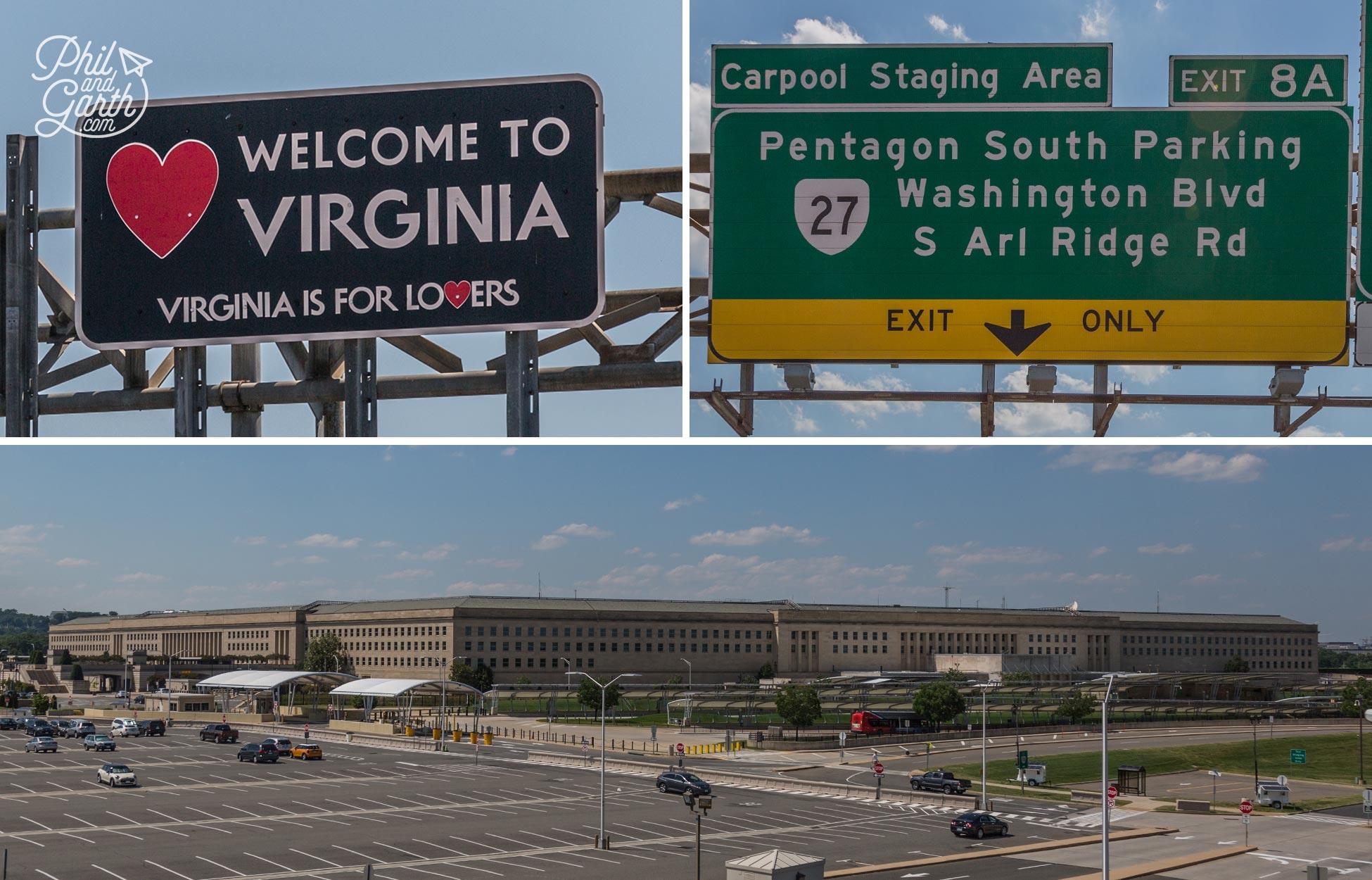 The Pentagon in Virginia, across the Potomac River from Washington DC