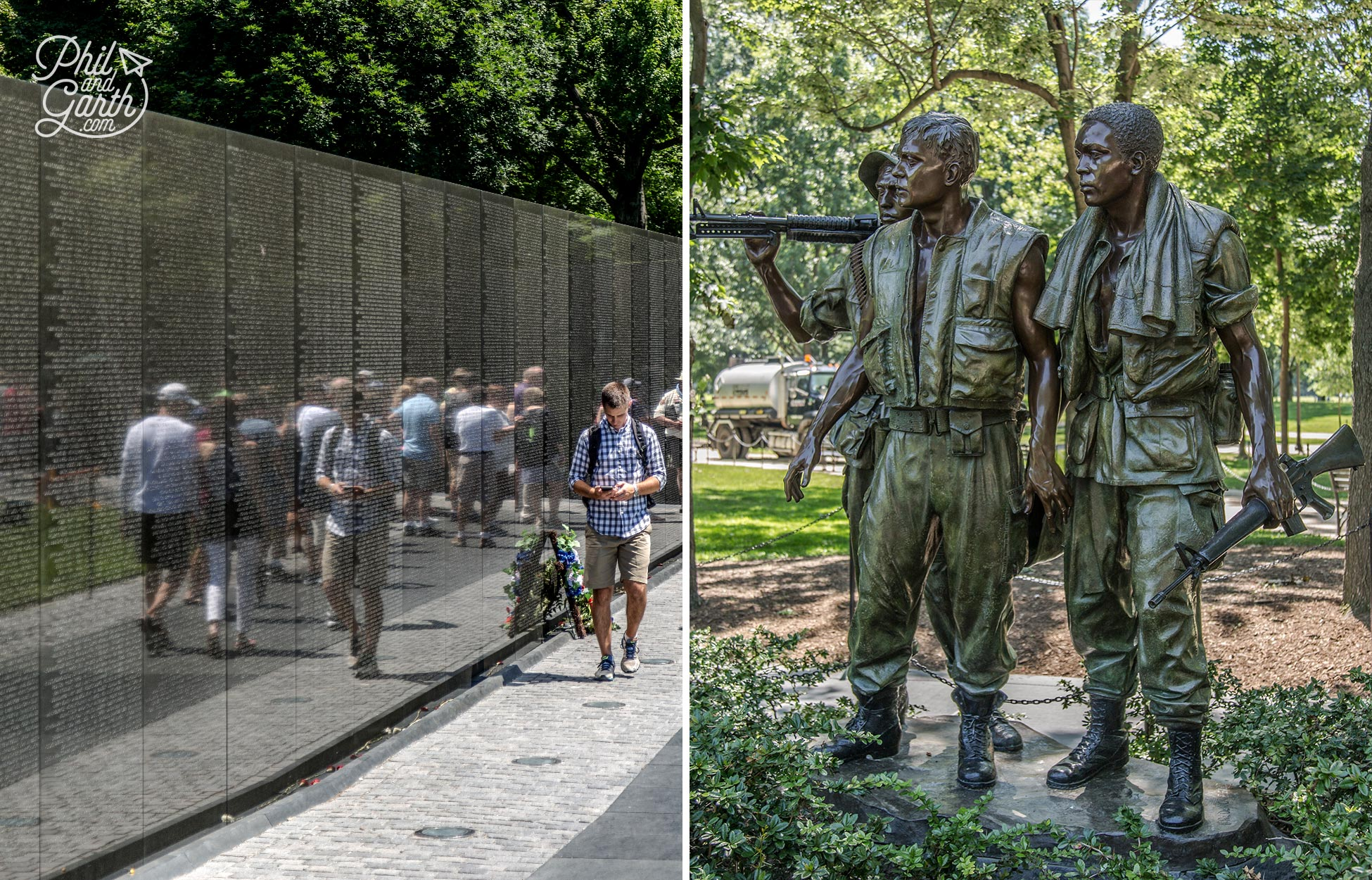The Three Soldiers (also known as The Three Servicemen) represents diversity in the US military