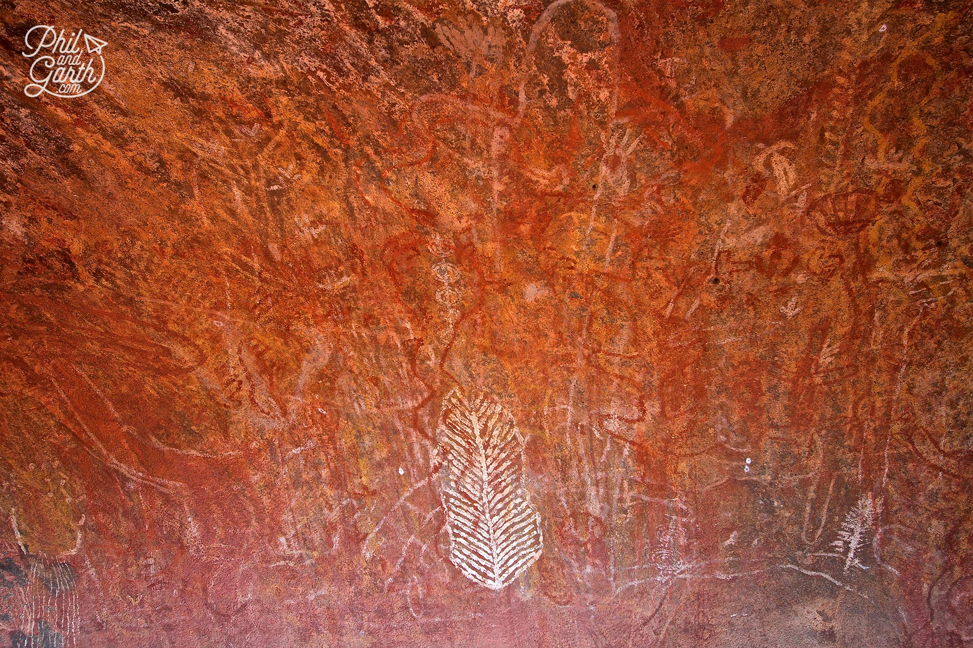 Ancient Aboriginal cave paintings Uluru