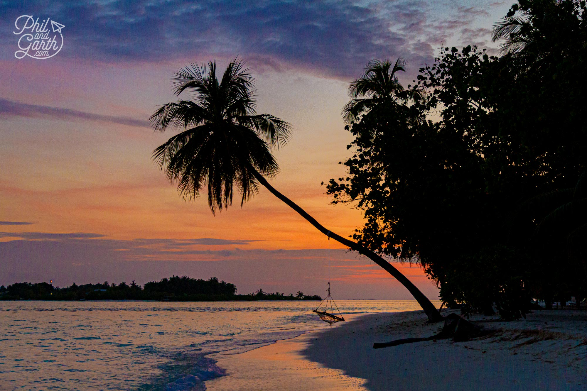 Another gorgeous sunset on tropical Meeru island