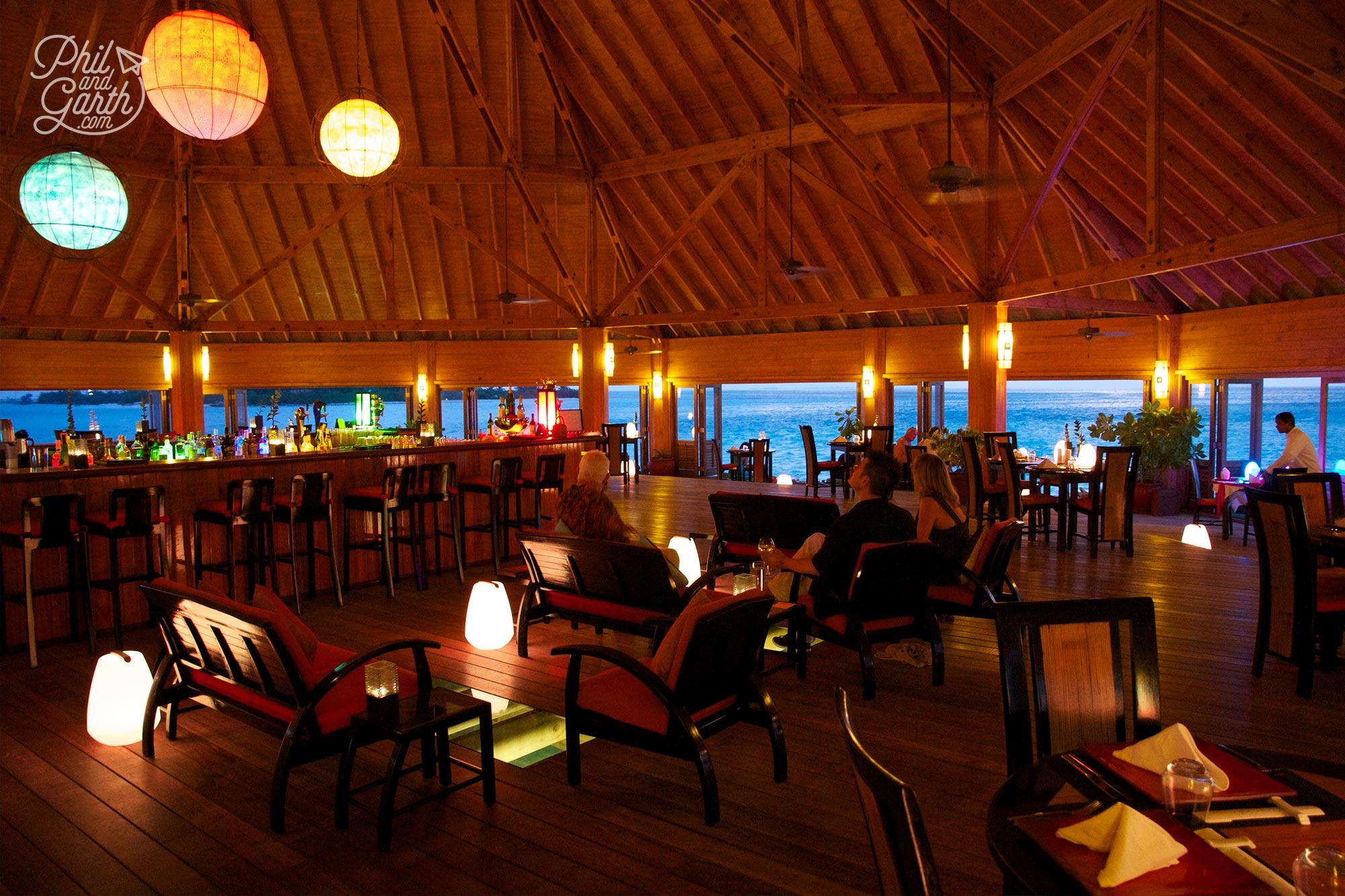 Inside the Asian Wok Restaurant