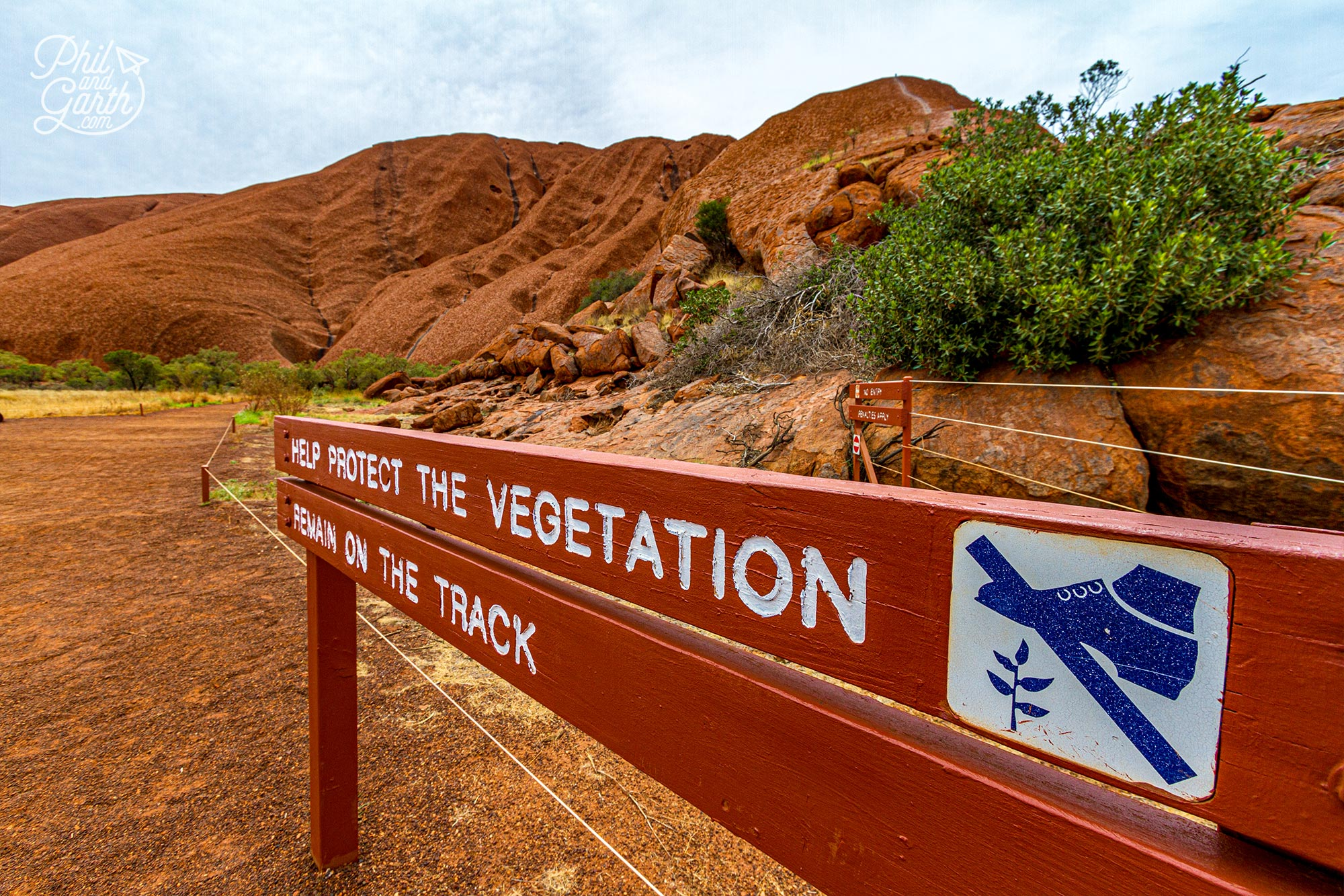 From the Mala car park take the 6 mile circular base walk around Uluru
