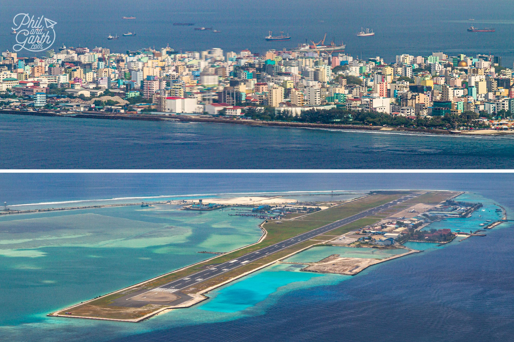 Malé is the capital of the Maldives located on one of the world's most densely populated islands
