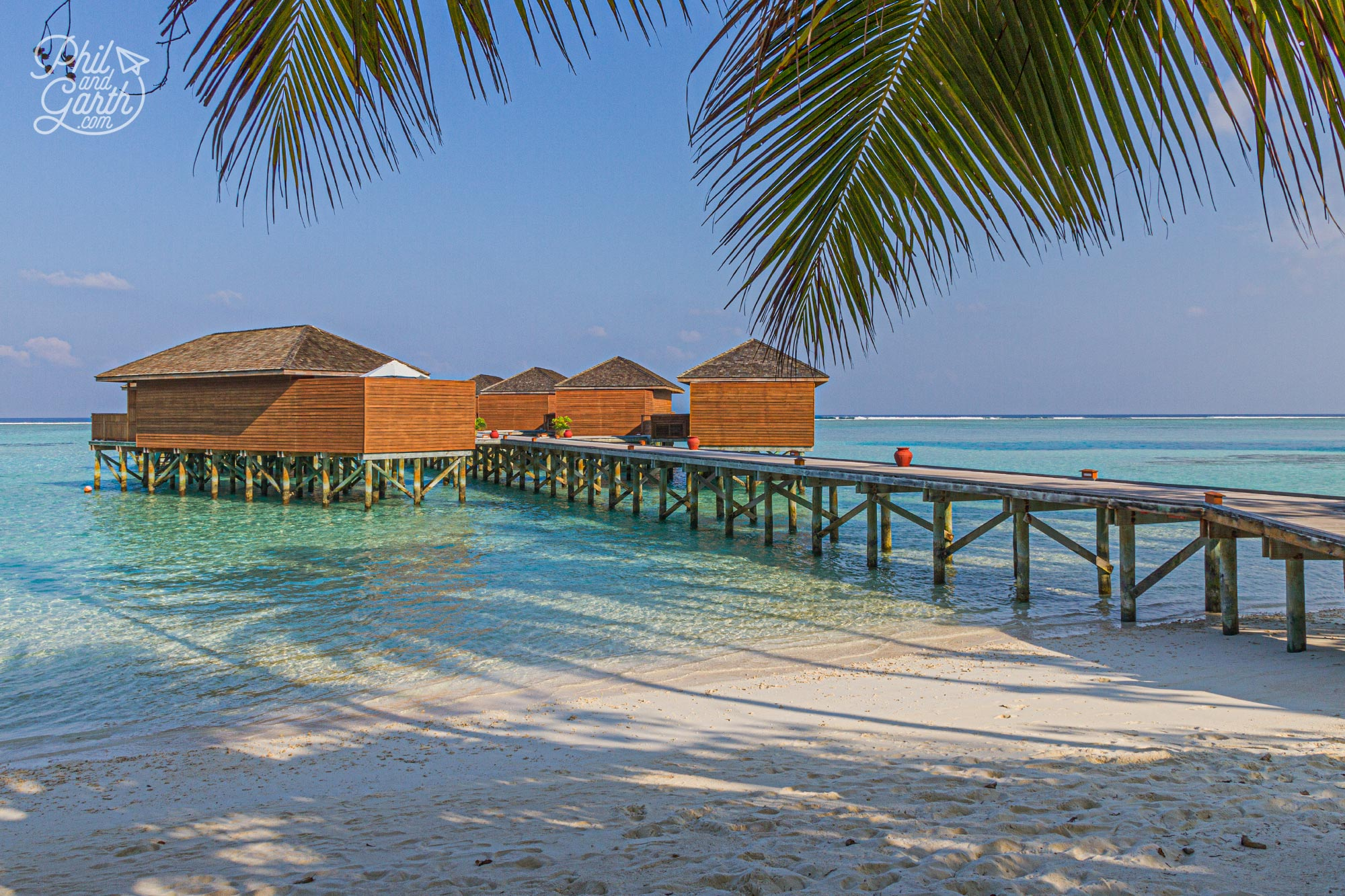 Meeru's top of the range accommodation - the over water Jacuzzi Water Villas