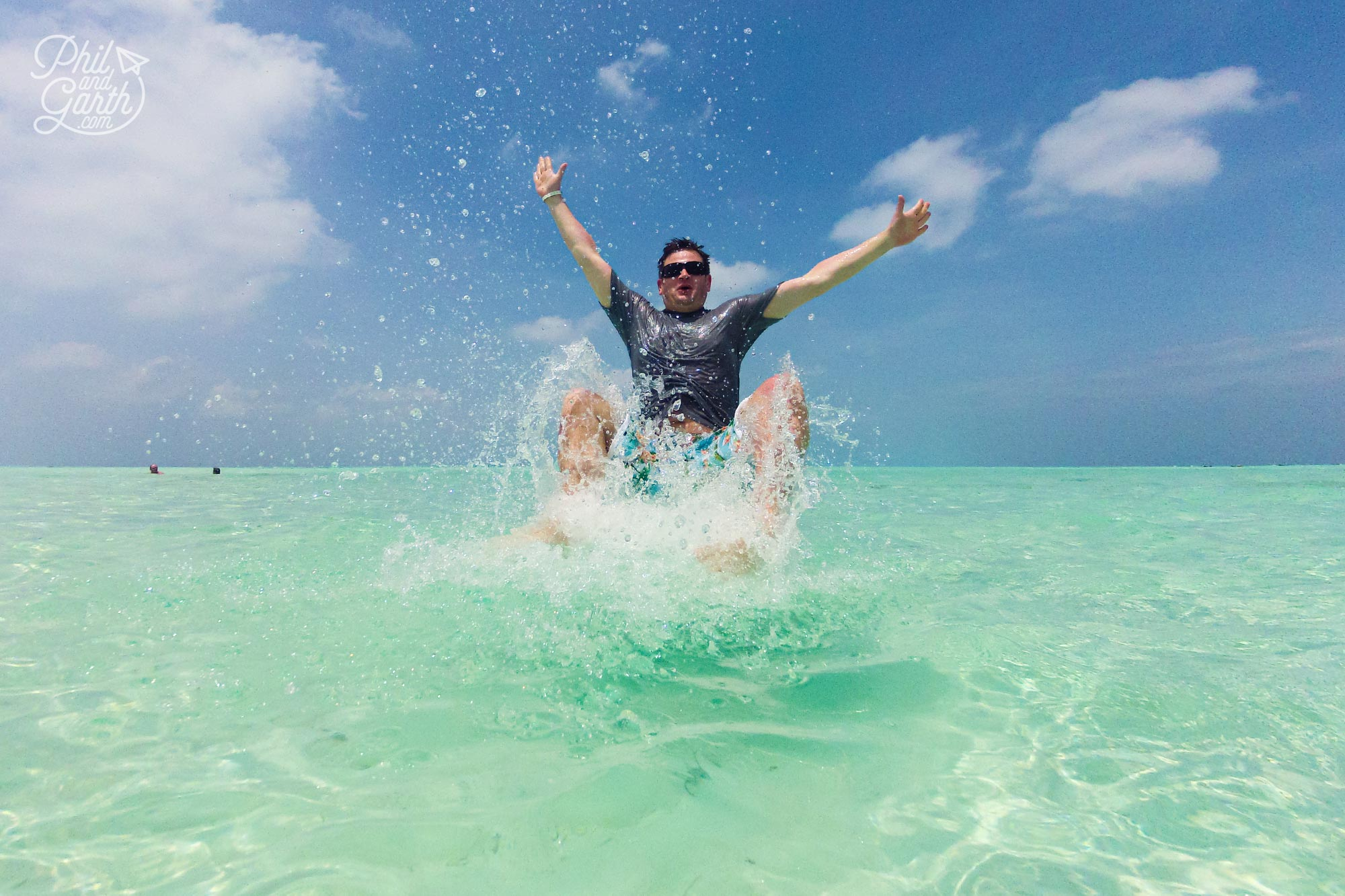 Phil messing about in the water