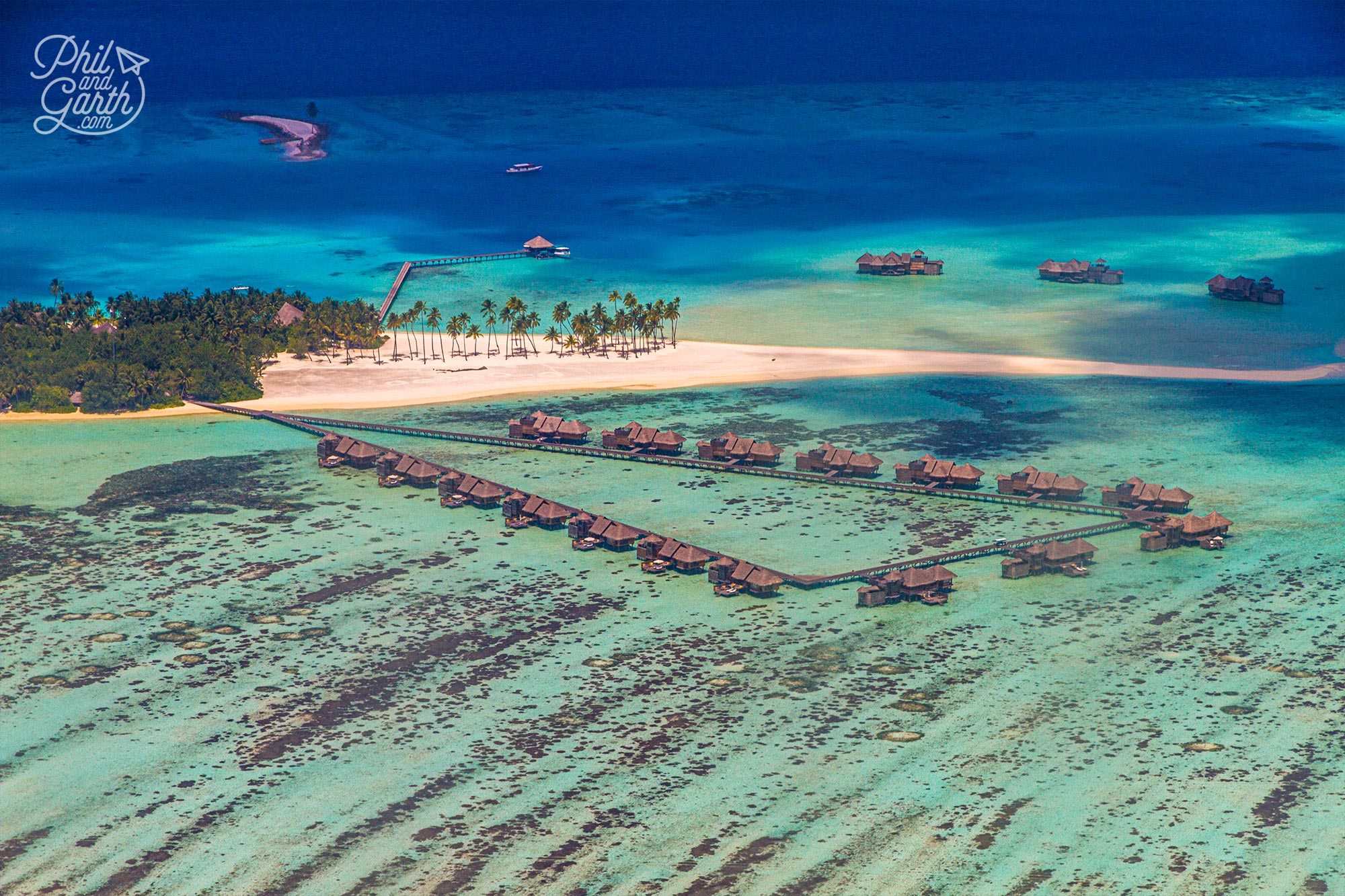 So many iconic over water villas and bungalows in the Maldives