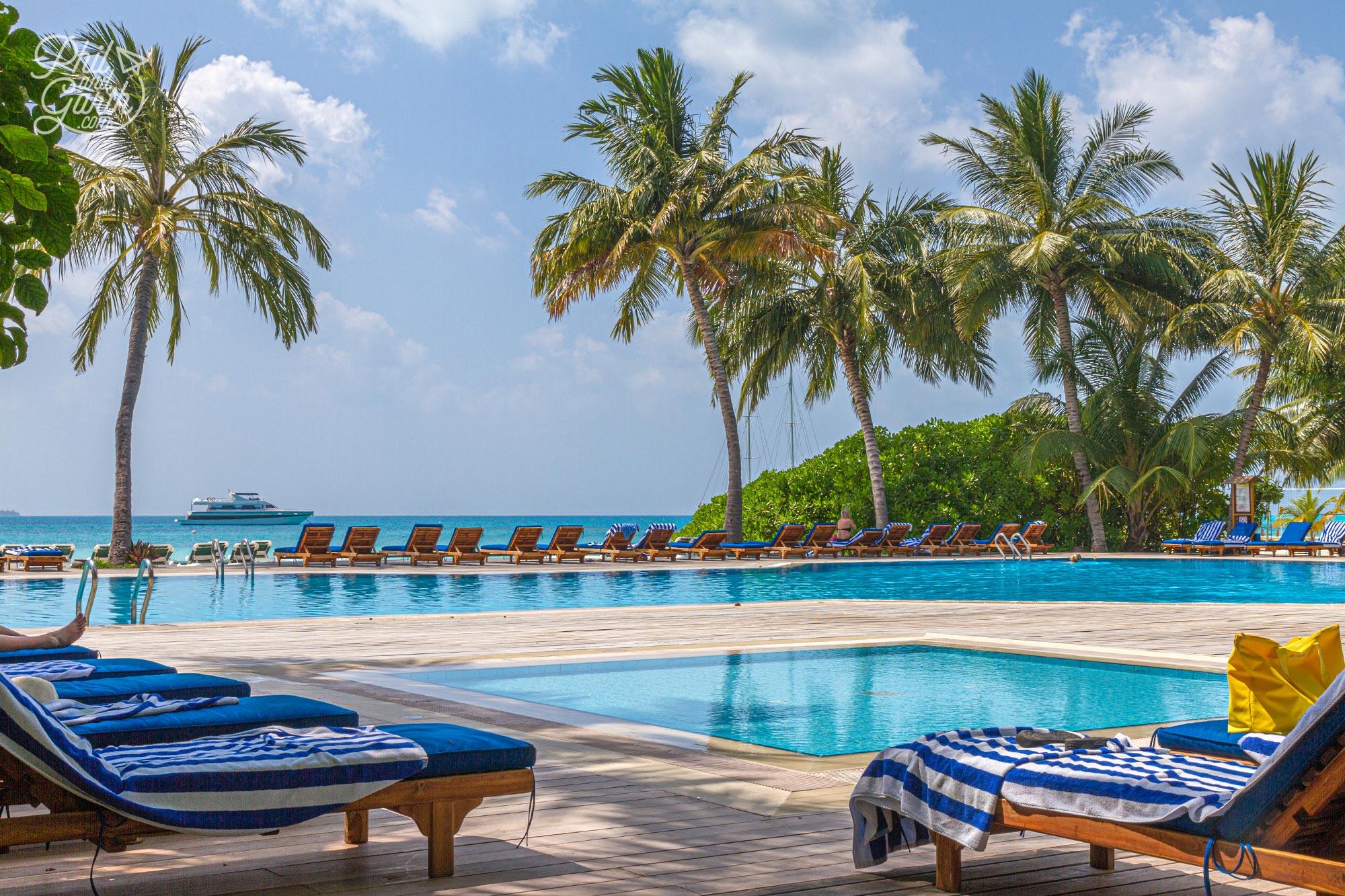 The Dhoni fresh water swimming pool