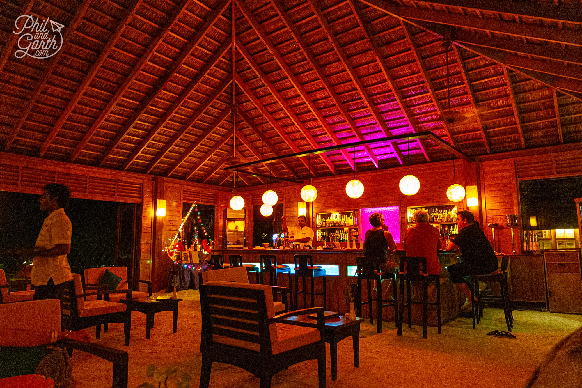 By night the cosy and intimate Pavilion Bar
