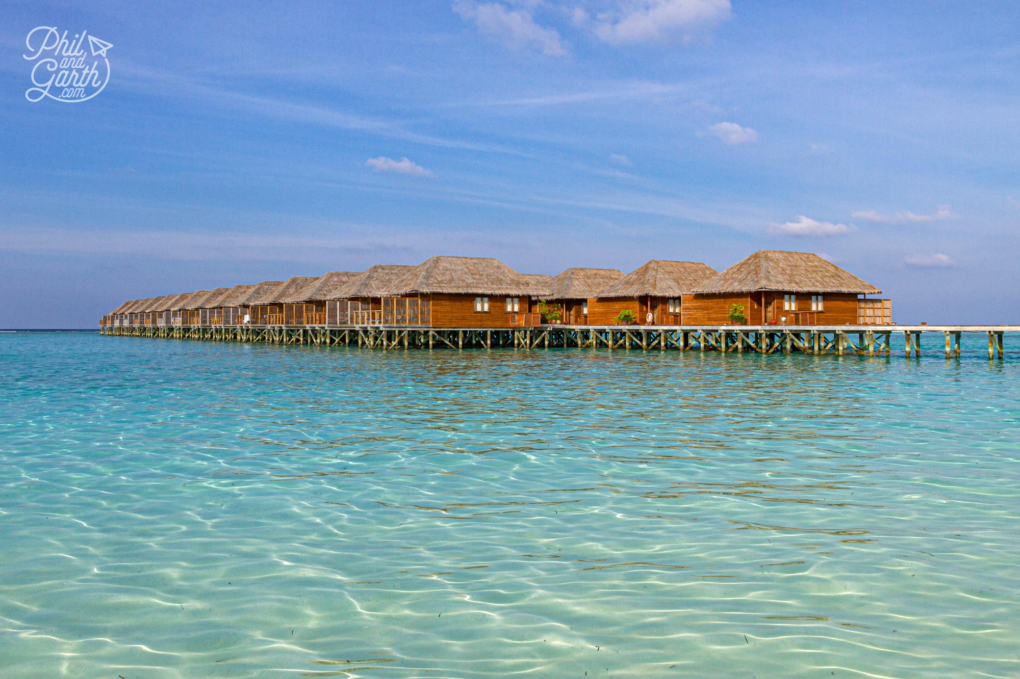 The other jacuzzi water villas located at the north of the island