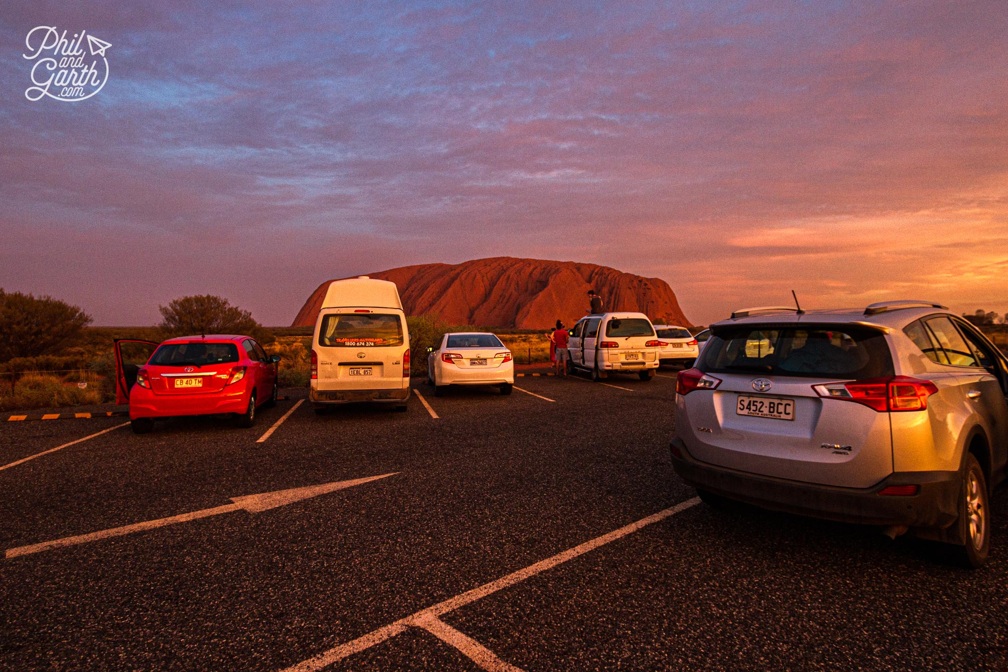 The sunset viewing car park