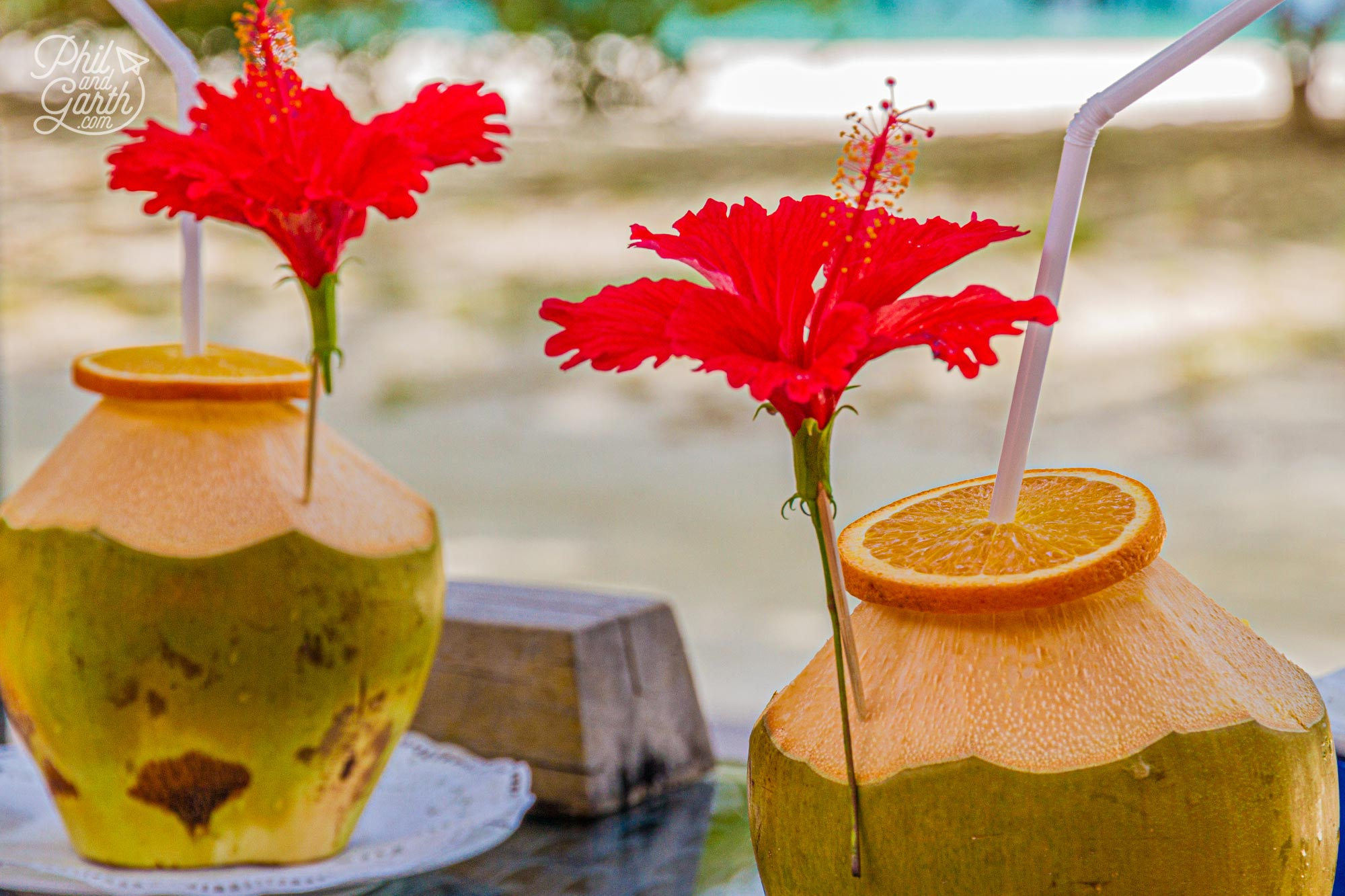 Thirst quenching coconut cocktails
