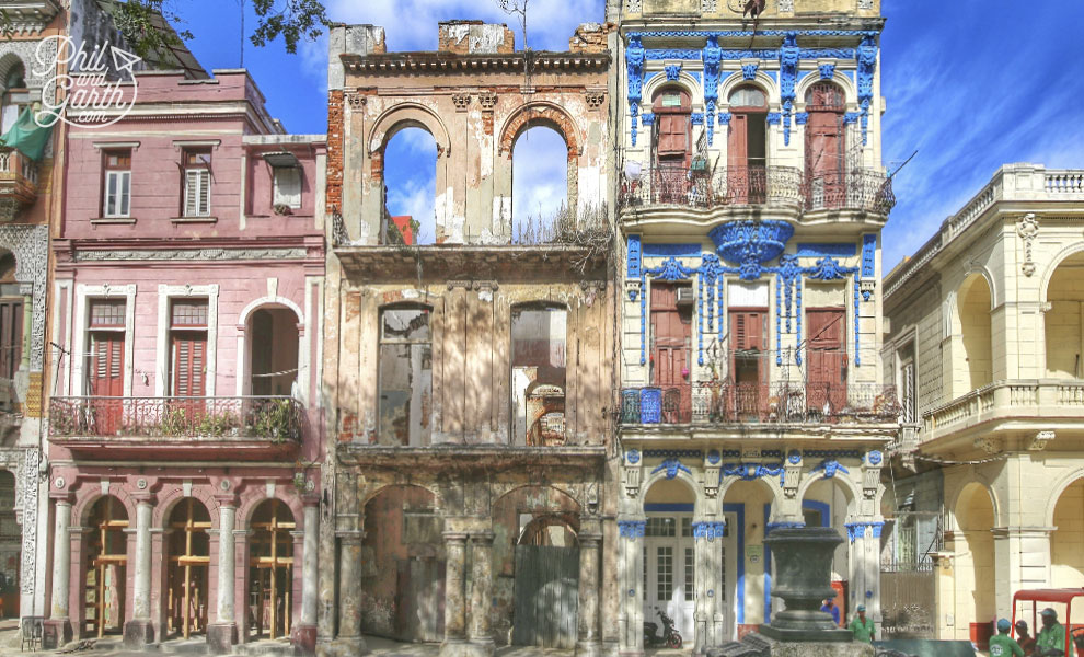Old Havana houses - some in desperate need of repair