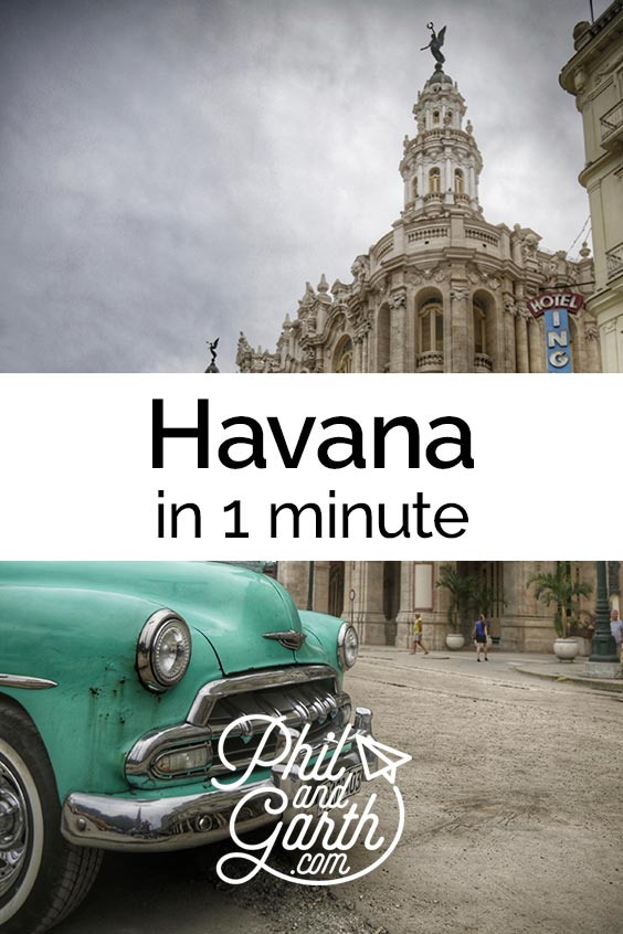 Watch Havana in 1 minute - sightseeing, must see sights, things to do, top 5 tips, food review, photography inspiration, advice and information. Read our full travel guide on our blog www.philandgarth.com