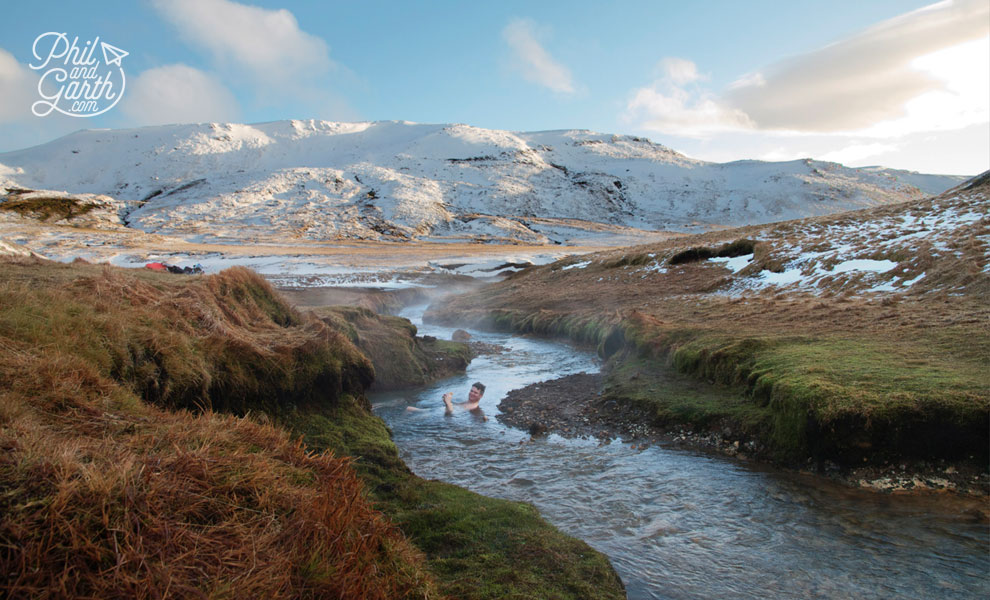 reykjavik_geothermal_hike_Hveragerdi_phil_taking_dip_hot_spring