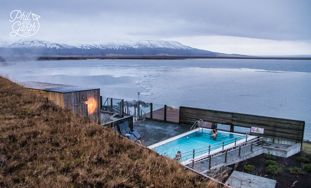 Iceland's dramatic scenery is the backdrop at the Laugarvatn Fontana Spa
