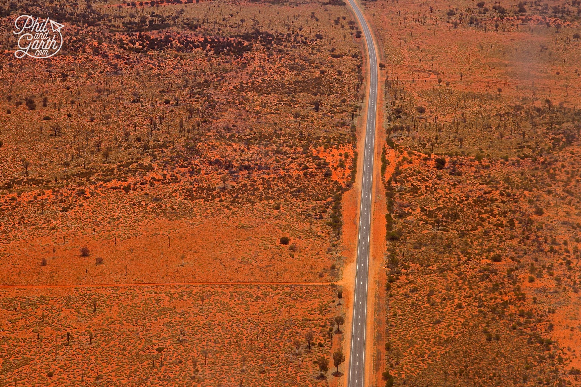 The wild Australian outback as seen from the air