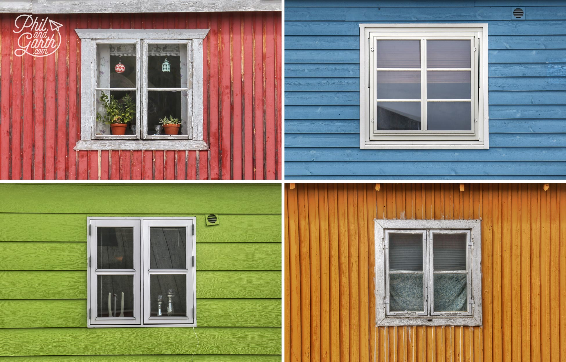 Colourful painted homes of Ilulissat
