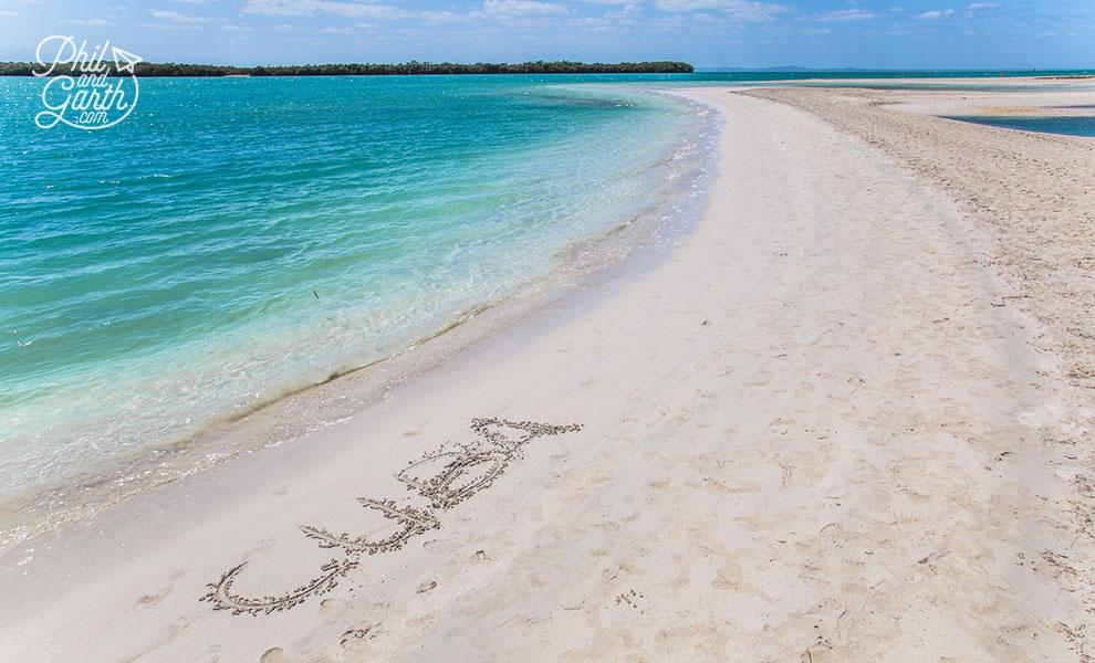 Cuba_drawn_on_beach_Blau_Privilege_Cayo_Libertad_varadero_travel_review_and_video