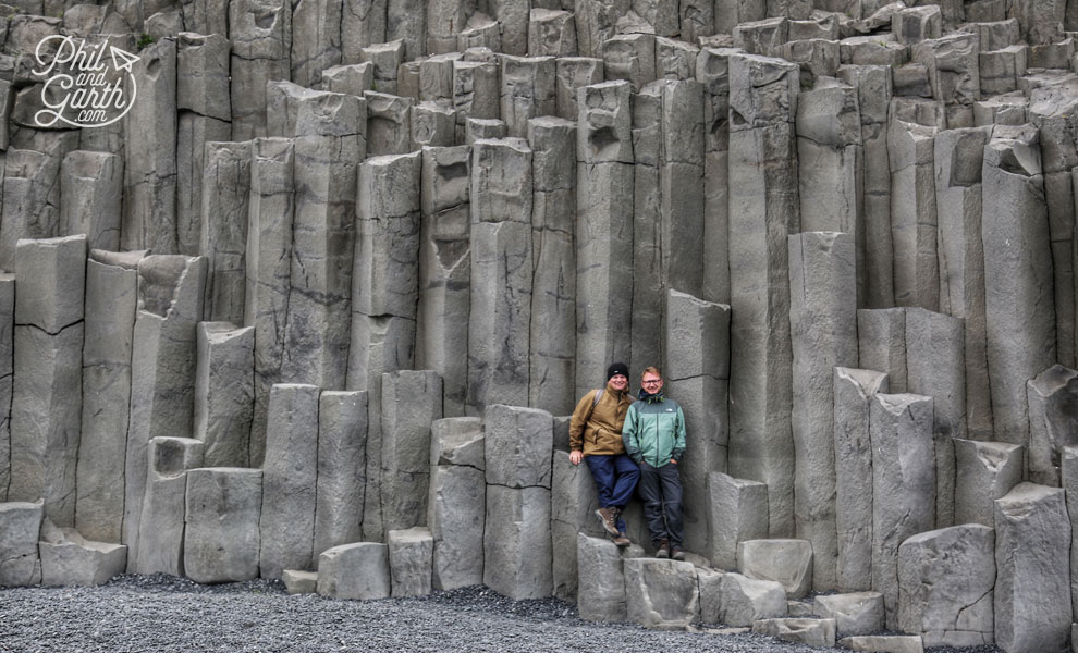 Iceland-south-Phil-and-Garth-at-Reynisfjara-black-sand-beach-2-travel-review