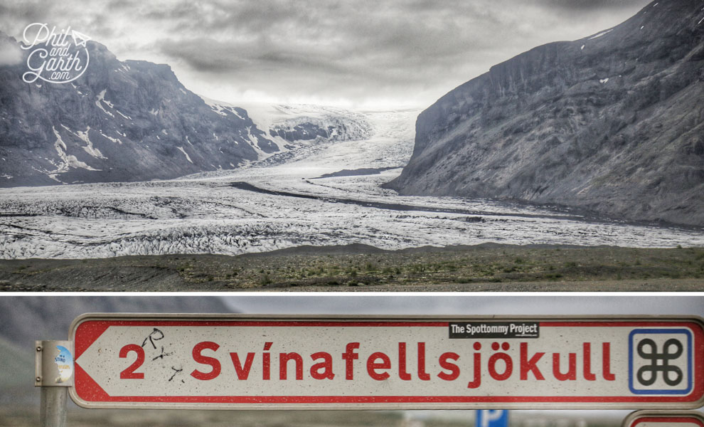 Iceland-south-glacier-hike-Svinafelljokull-glacier-and-sign