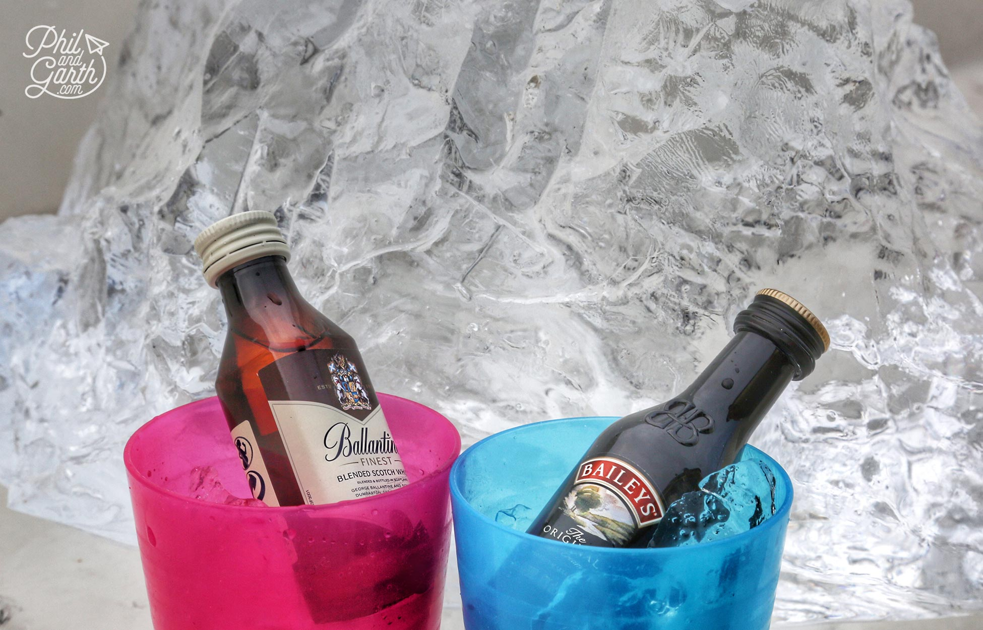 The only way to enjoy a Whisky and Baileys is with clear pure ice chipped off the icebergs - magical!