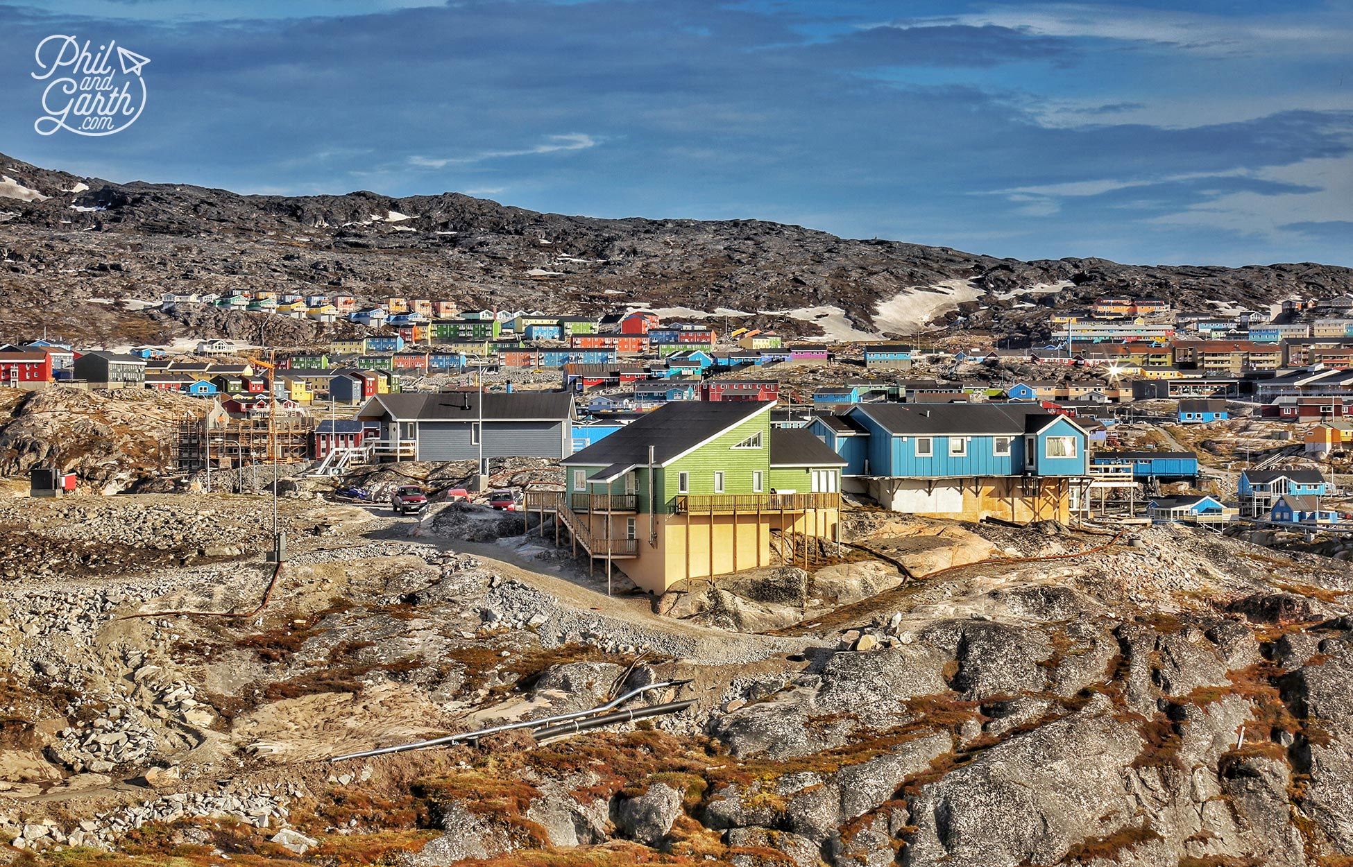 The view of Ilulissat from Hotel Arctic