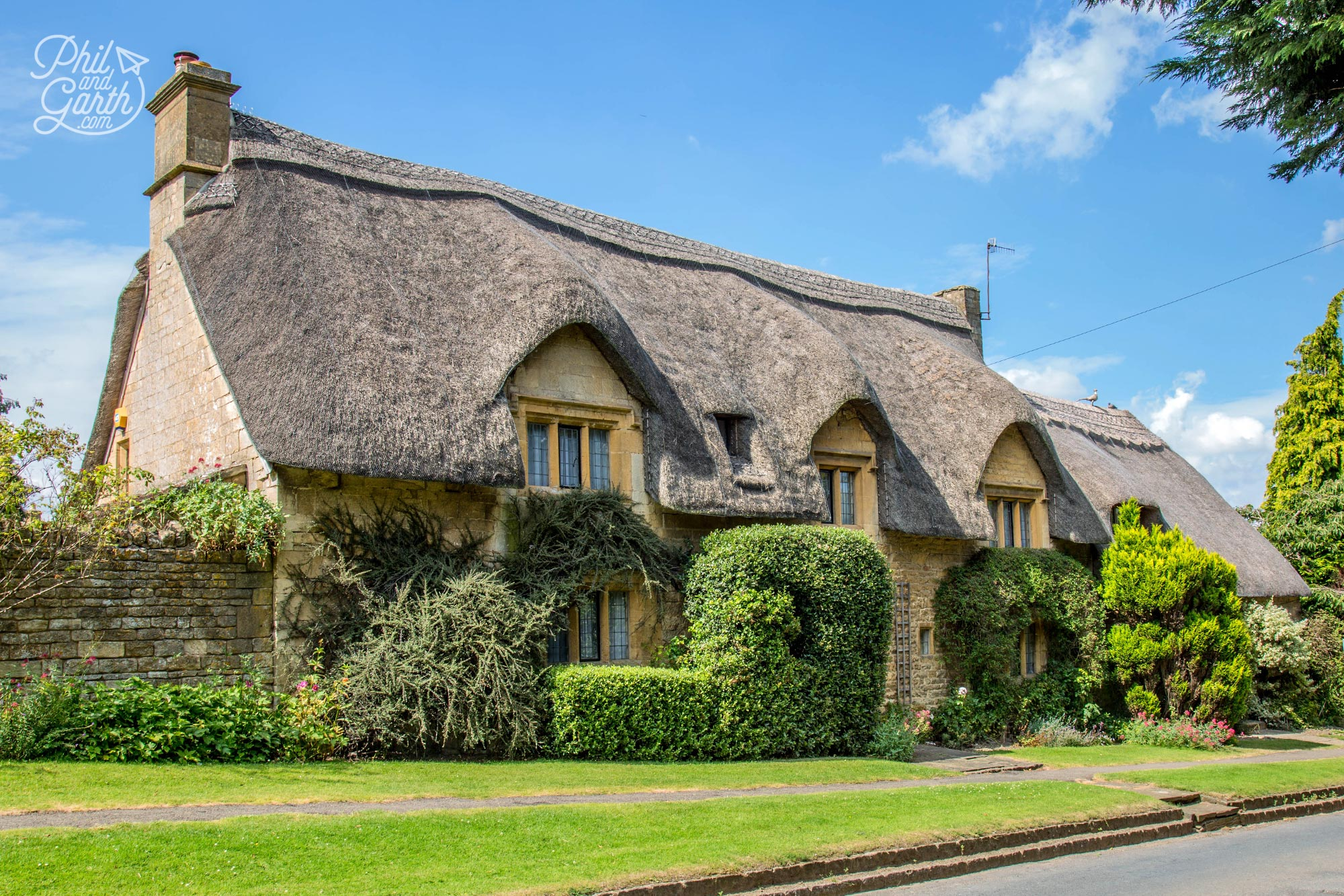 Another fine example of a Cotswold thatched cottage