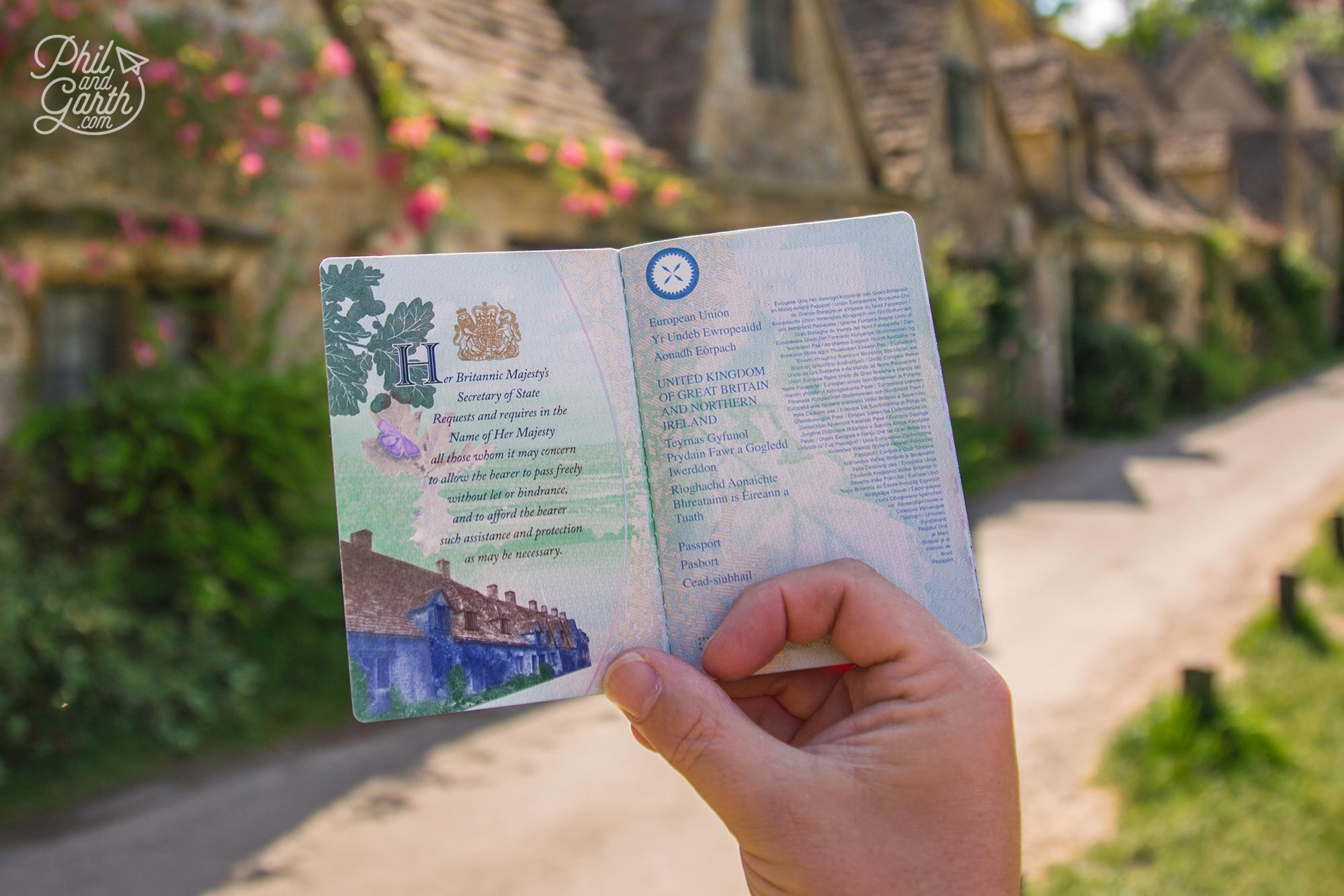 Arlington Row features in the United Kingdom passport