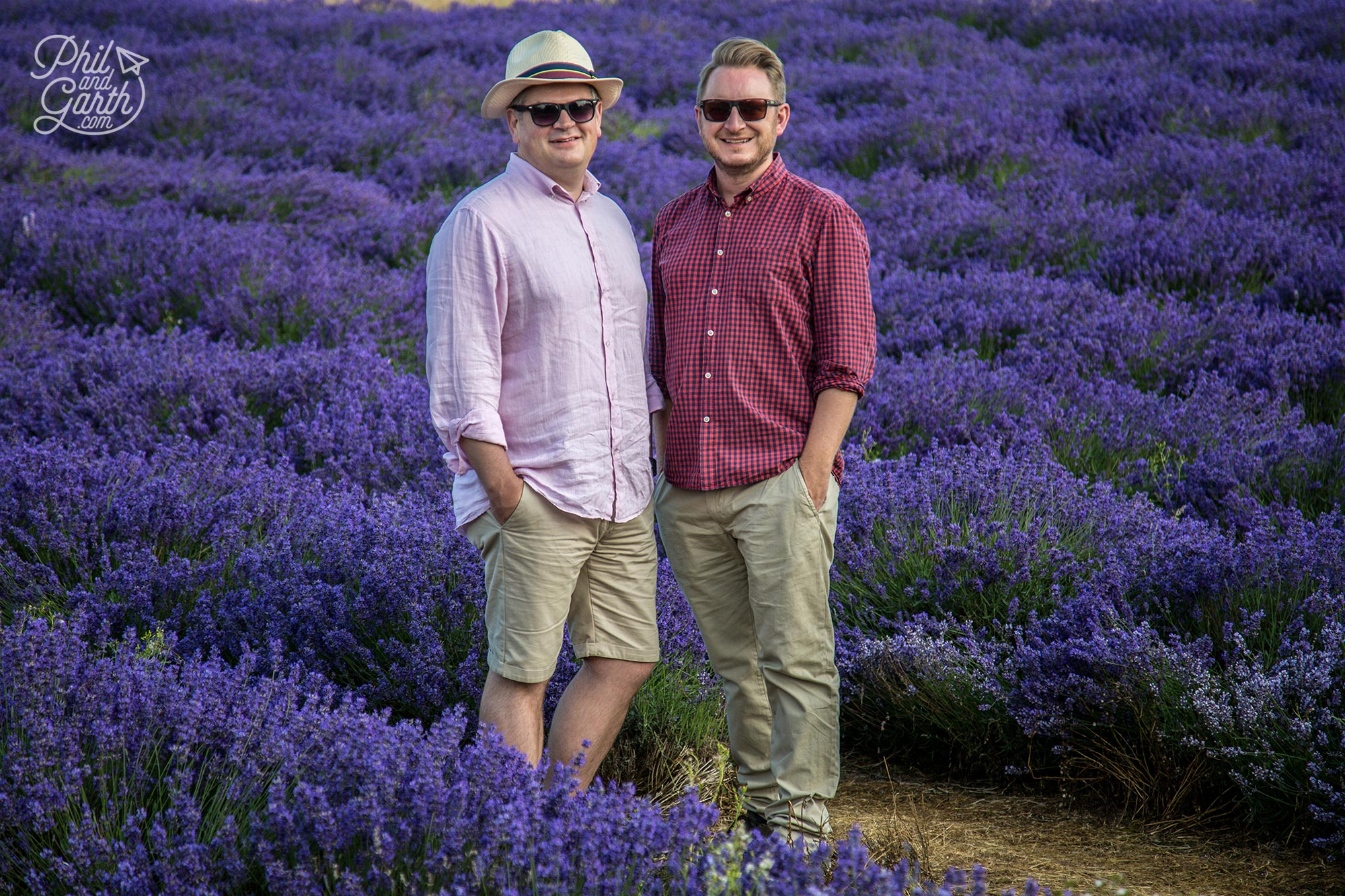 Phil and Garth at Cotswold Lavender