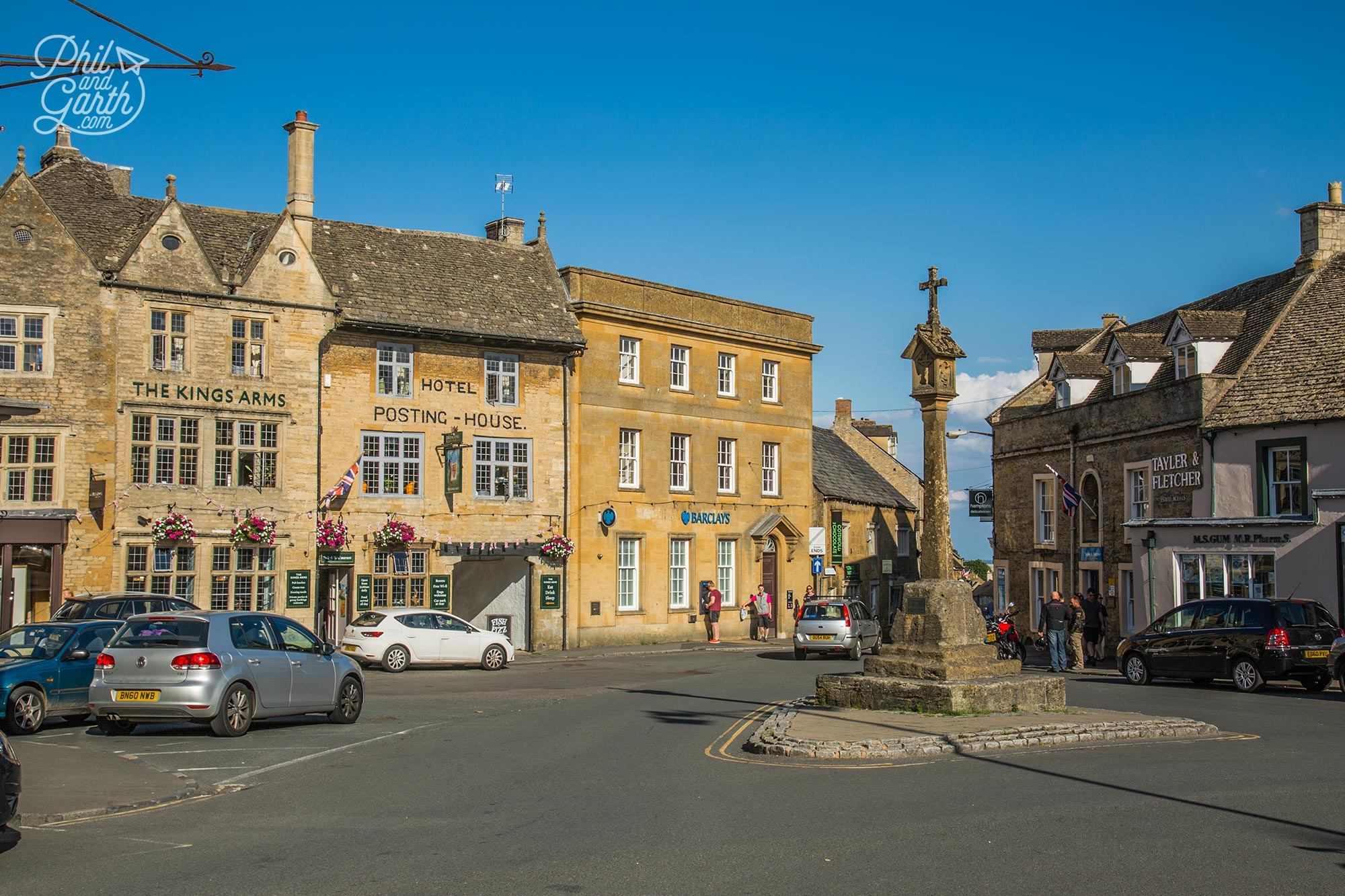 The ancient market cross at Stow-on-the-Wold