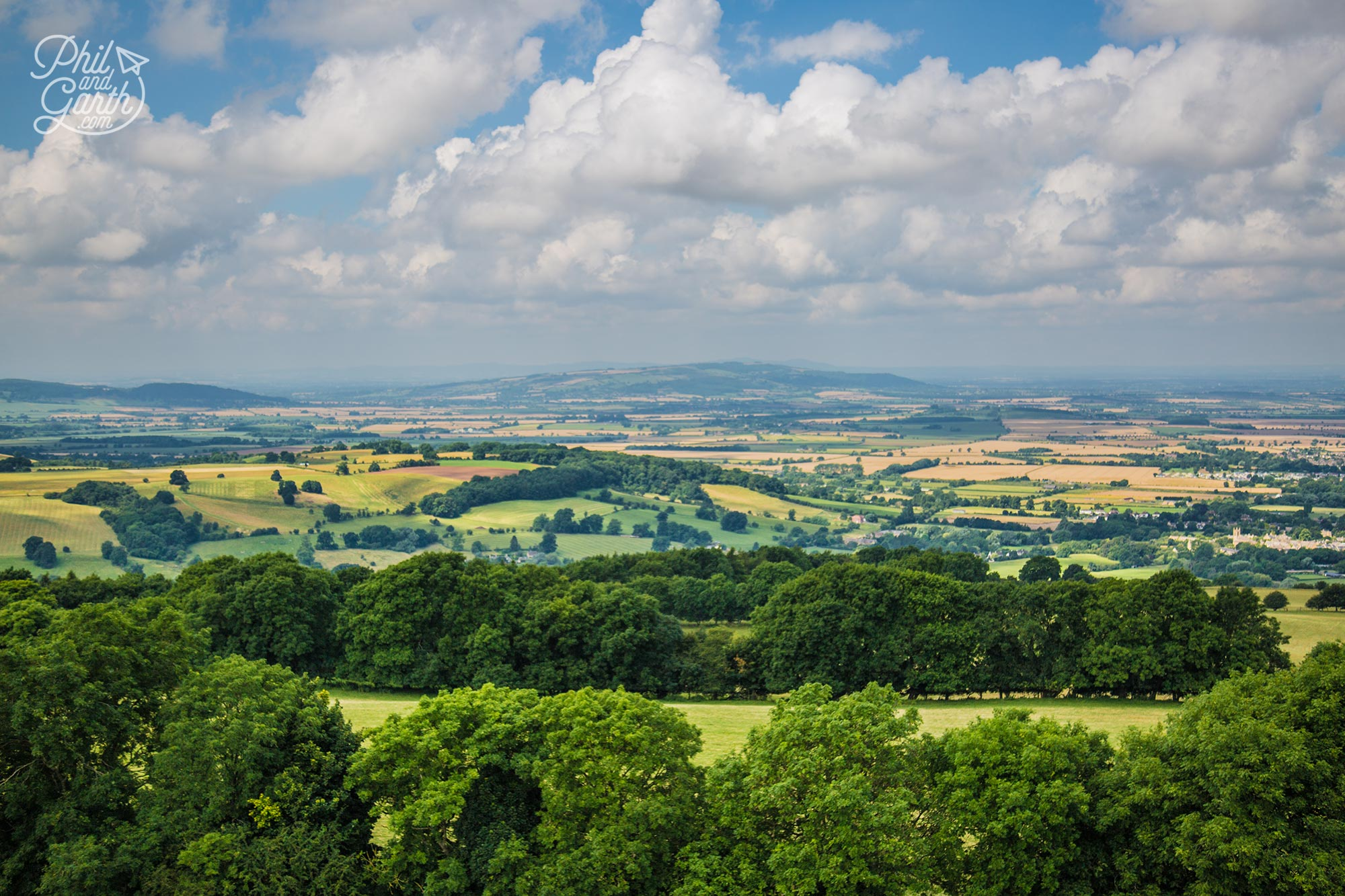 The rolling hills of the Cotswolds