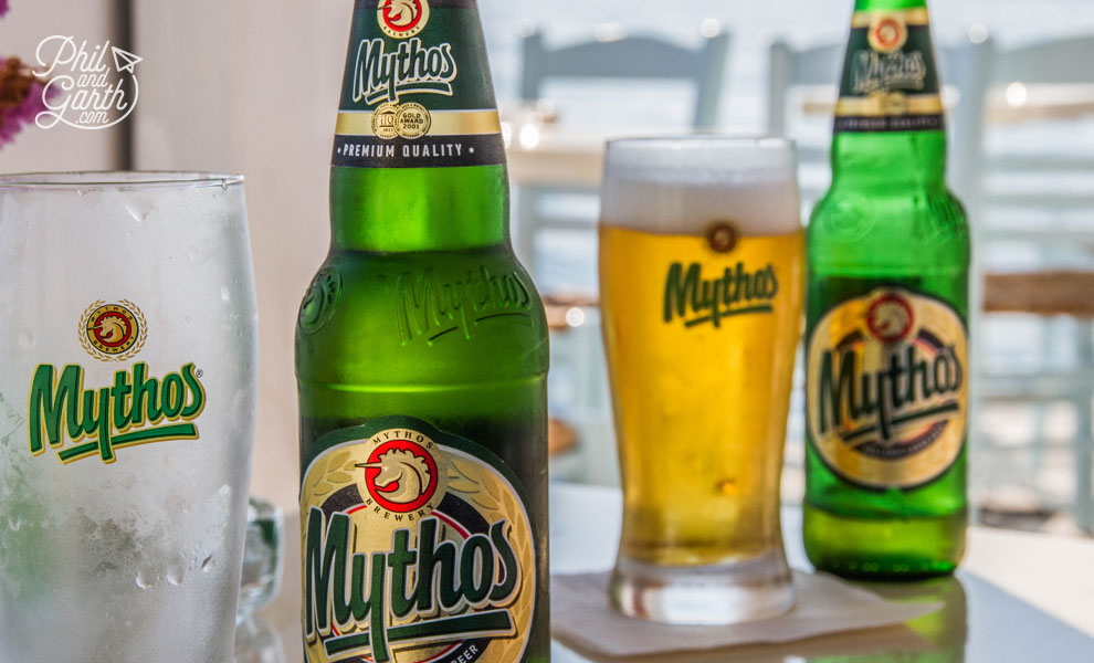 Ice cold Mythos beers