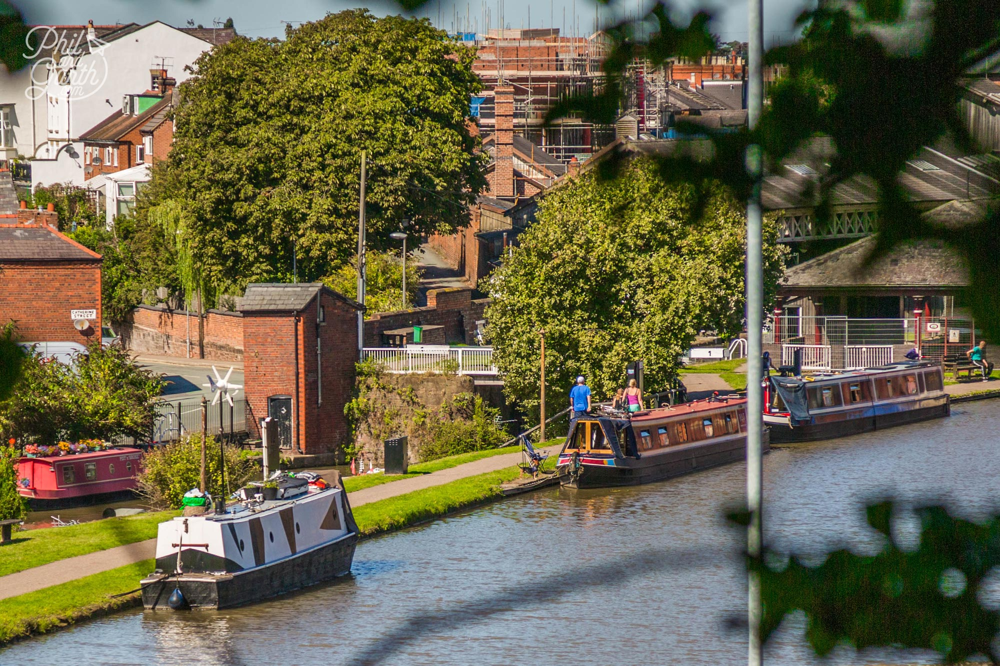Canal boats in Chester