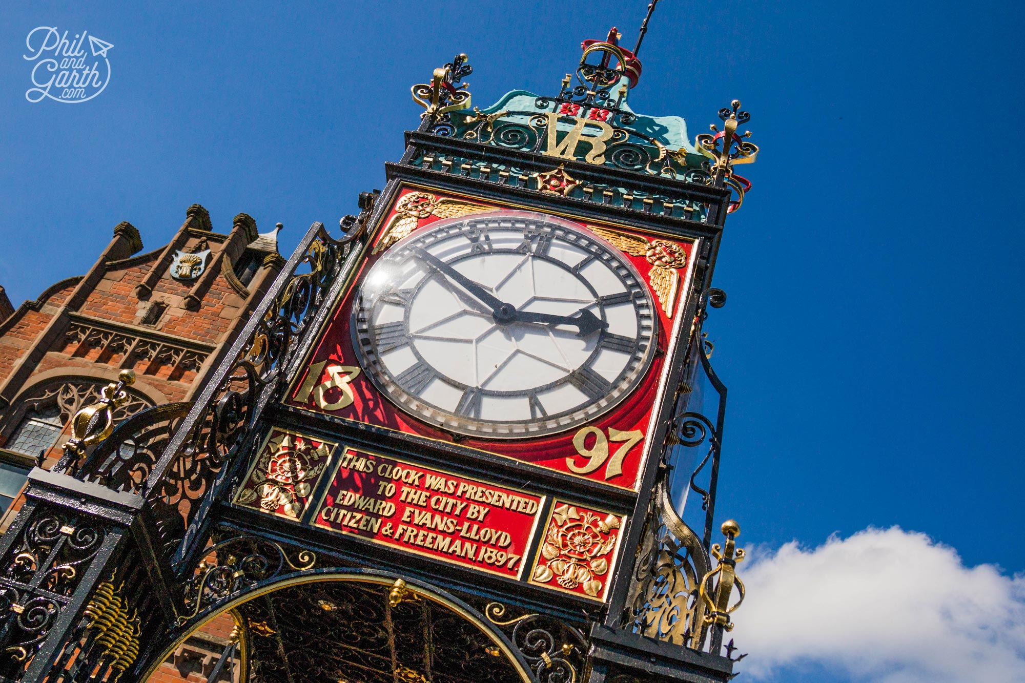 The ornate Eastgate Clock
