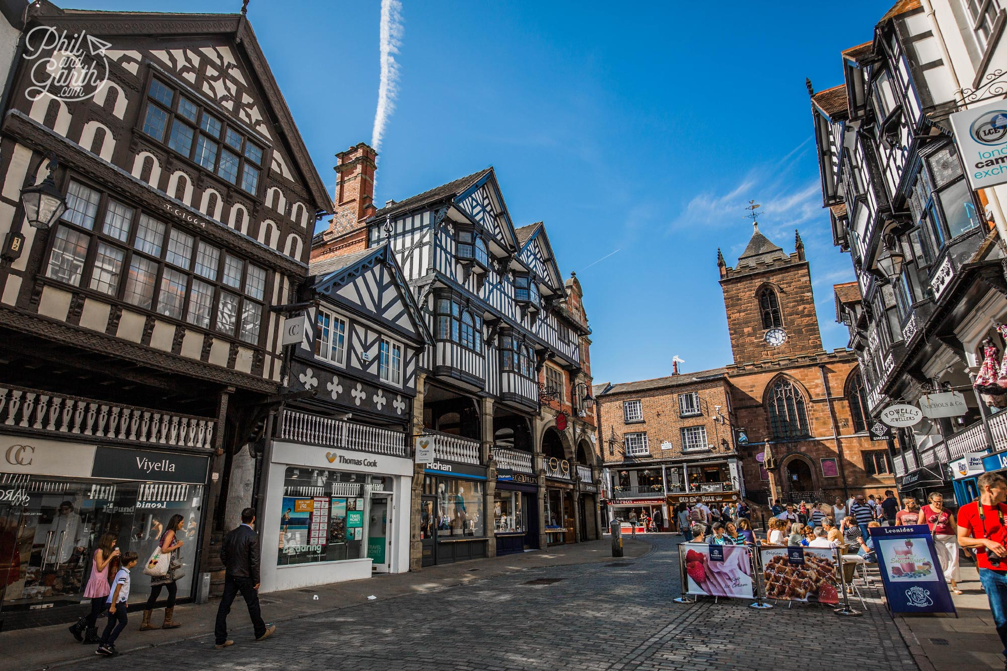 Chester's Rows - two tiered shopping arcades