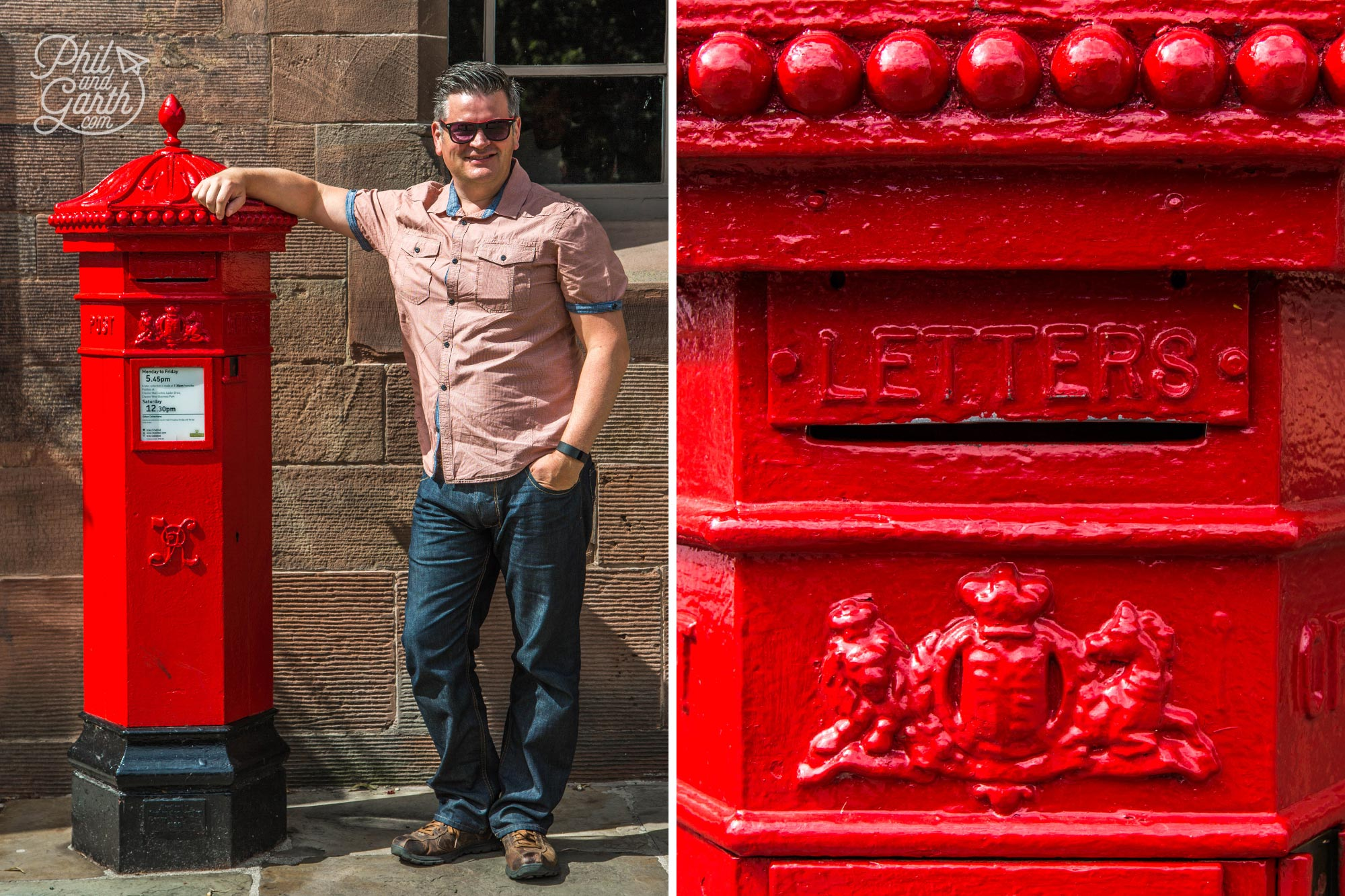 Phil at Chester's old penny postbox
