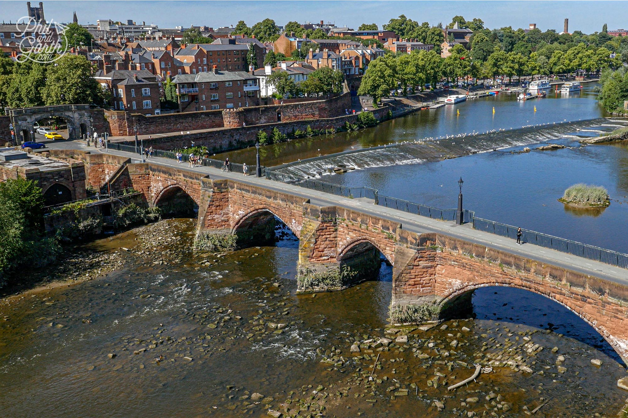 One of Chester's landmarks - The Old Dee Bridge
