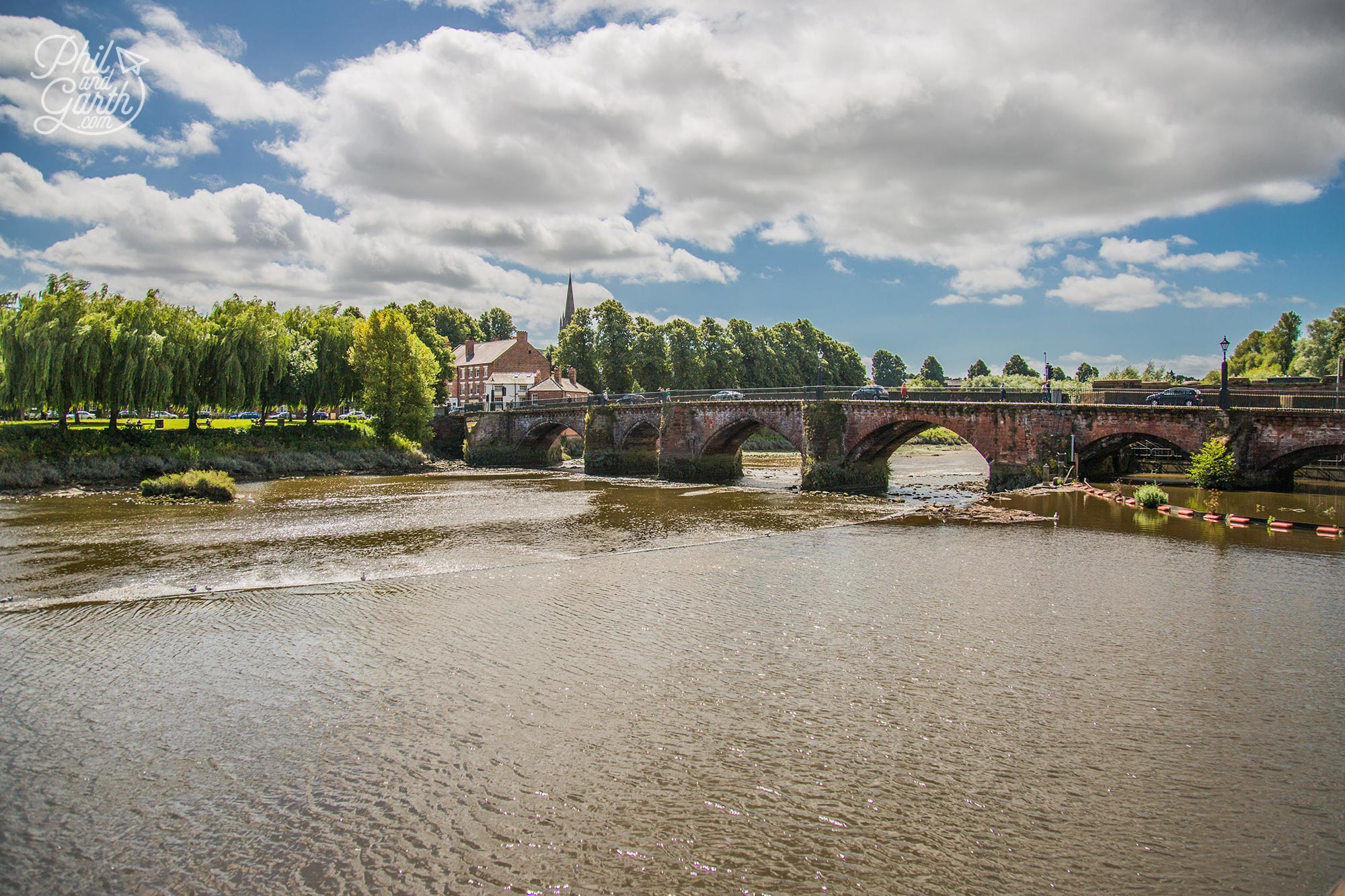 The Old Dee Bridge once had a drawbridge and towers