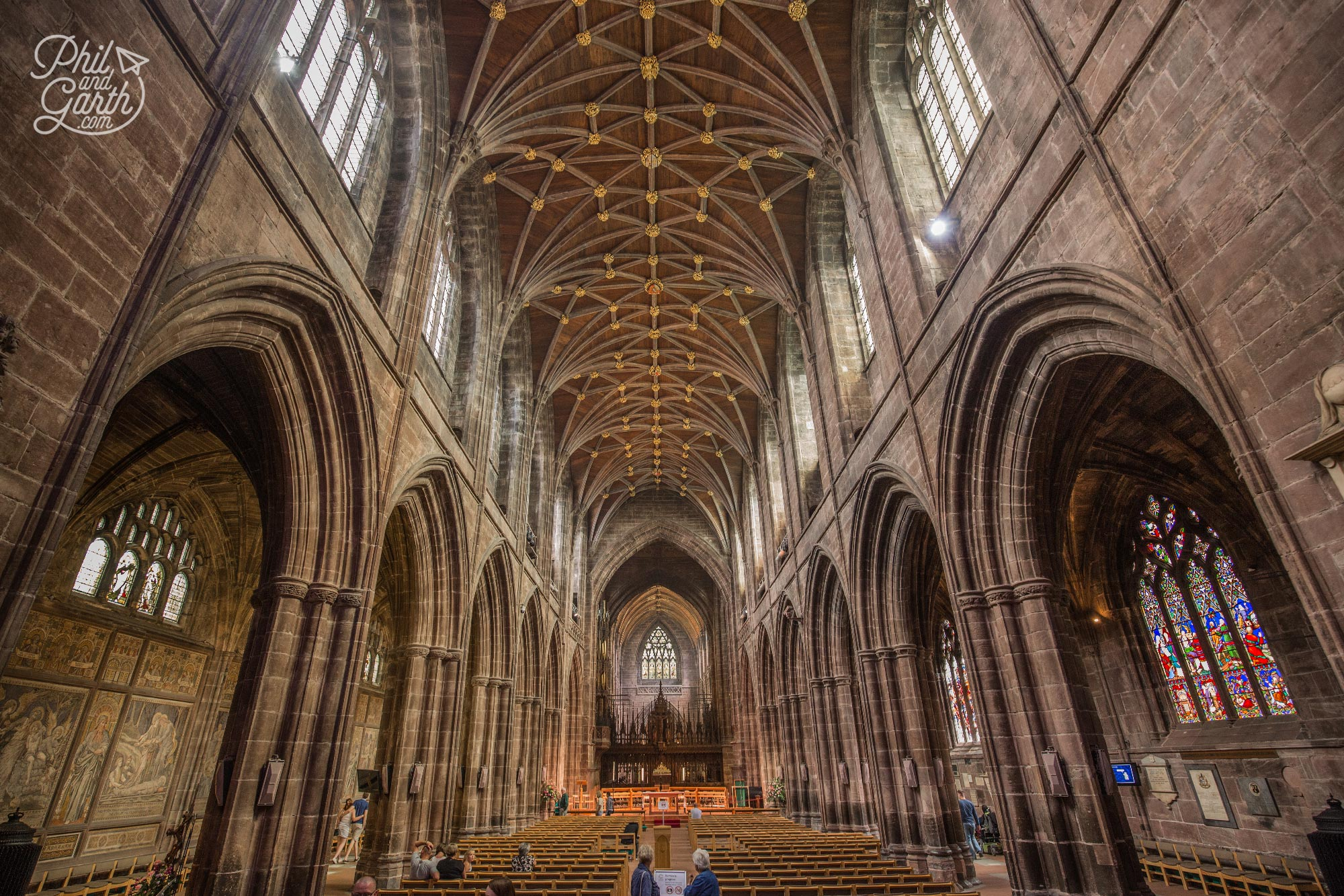 The magnificent interior of Chester Cathedral