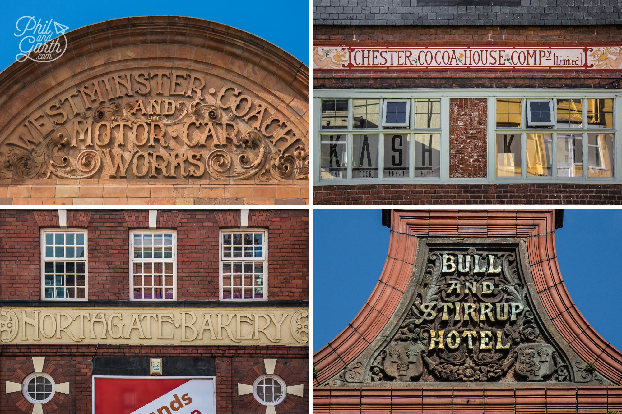 Some lovely typography on these old Victorian signs in Chester